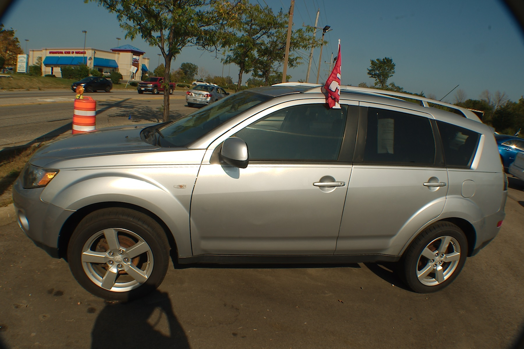 2007 Mitsubishi Outlander Silver SUV Wagon 4x4 Sale Antioch Zion Waukegan Lake County Illinois
