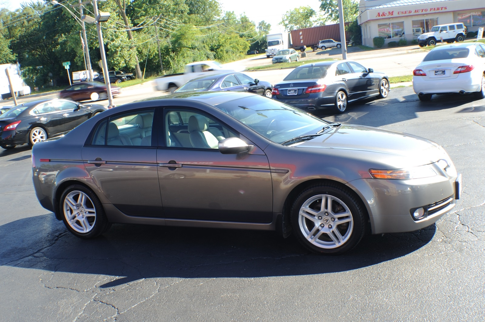 2007 Acura TL Gray Metallic Sedan Sale Used Car Sale Fox River Grove Grayslake Volo Waucanda