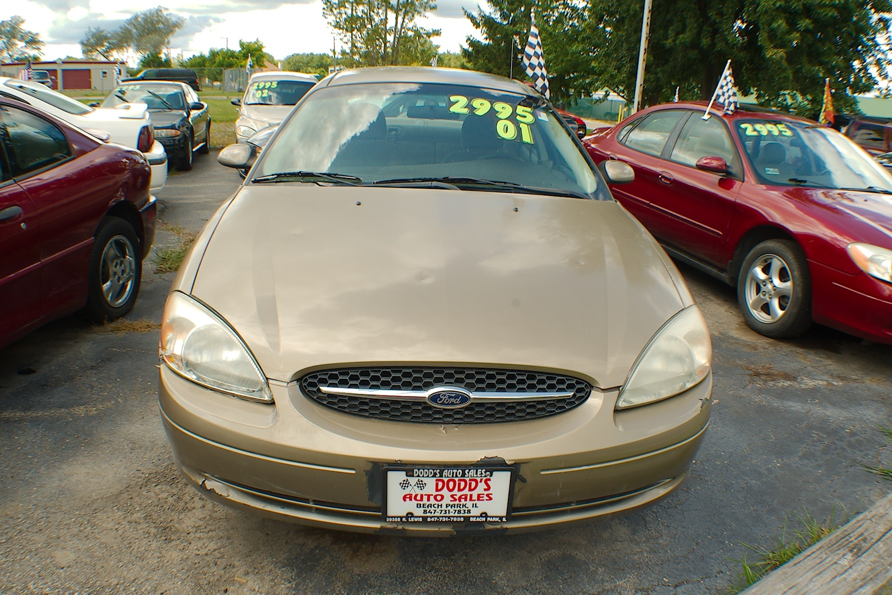 2001 Ford Taurus Sand Sedan Used Car Sale Gurnee Kenosha Mchenry Chicago Illinois