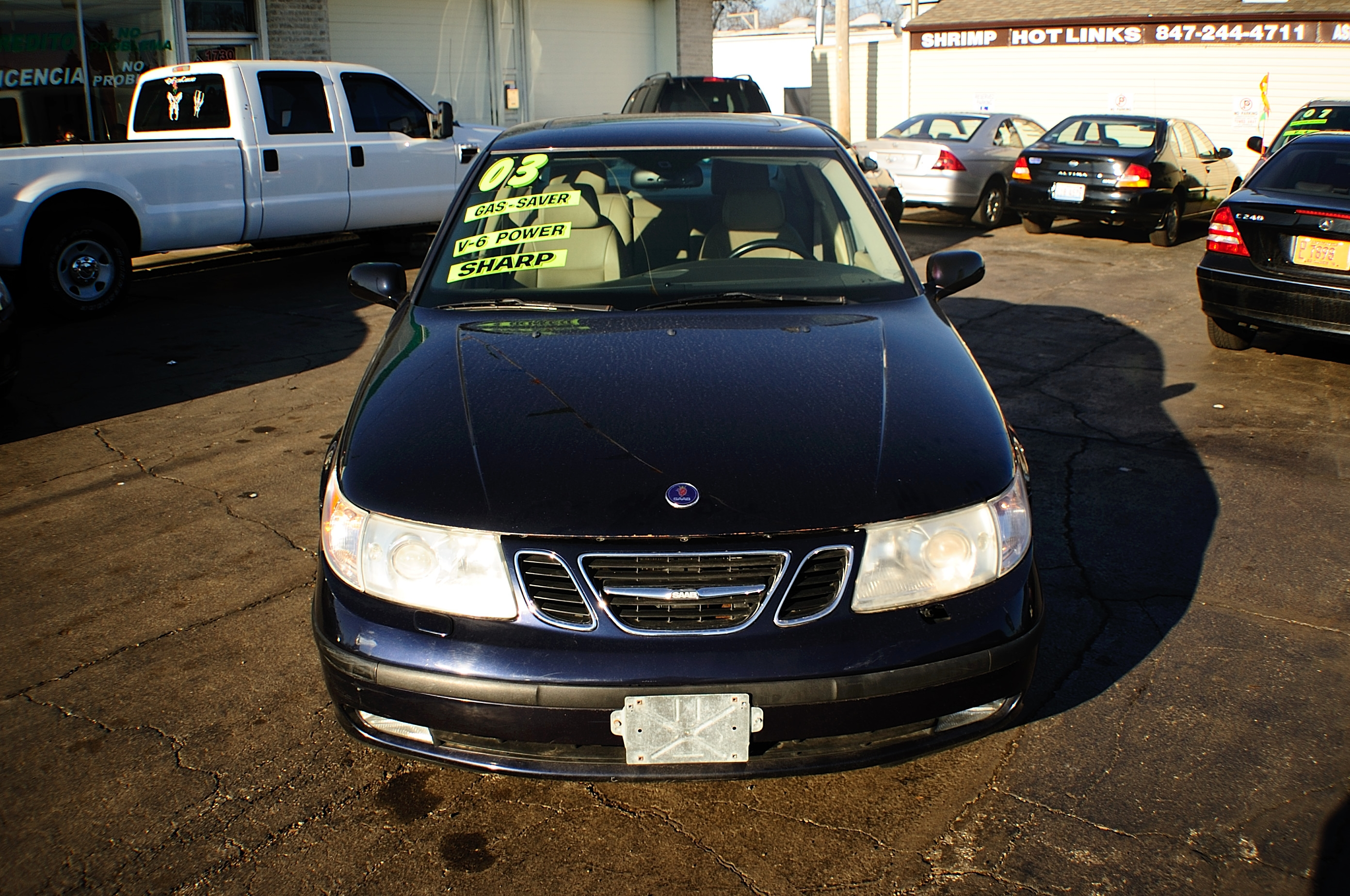 2003 Saab 4Dr blue sedan sale used car Gurnee Kenosha Mchenry