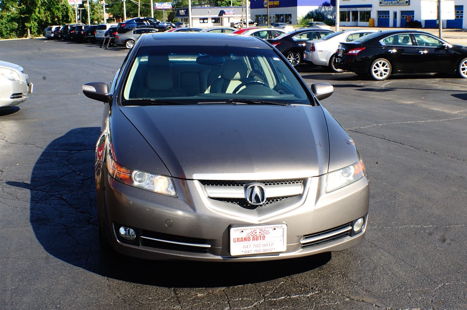 2007 Acura TL Gray Metallic Sedan Sale Used Car Sale Gurnee Kenosha Mchenry Chicago Illinois