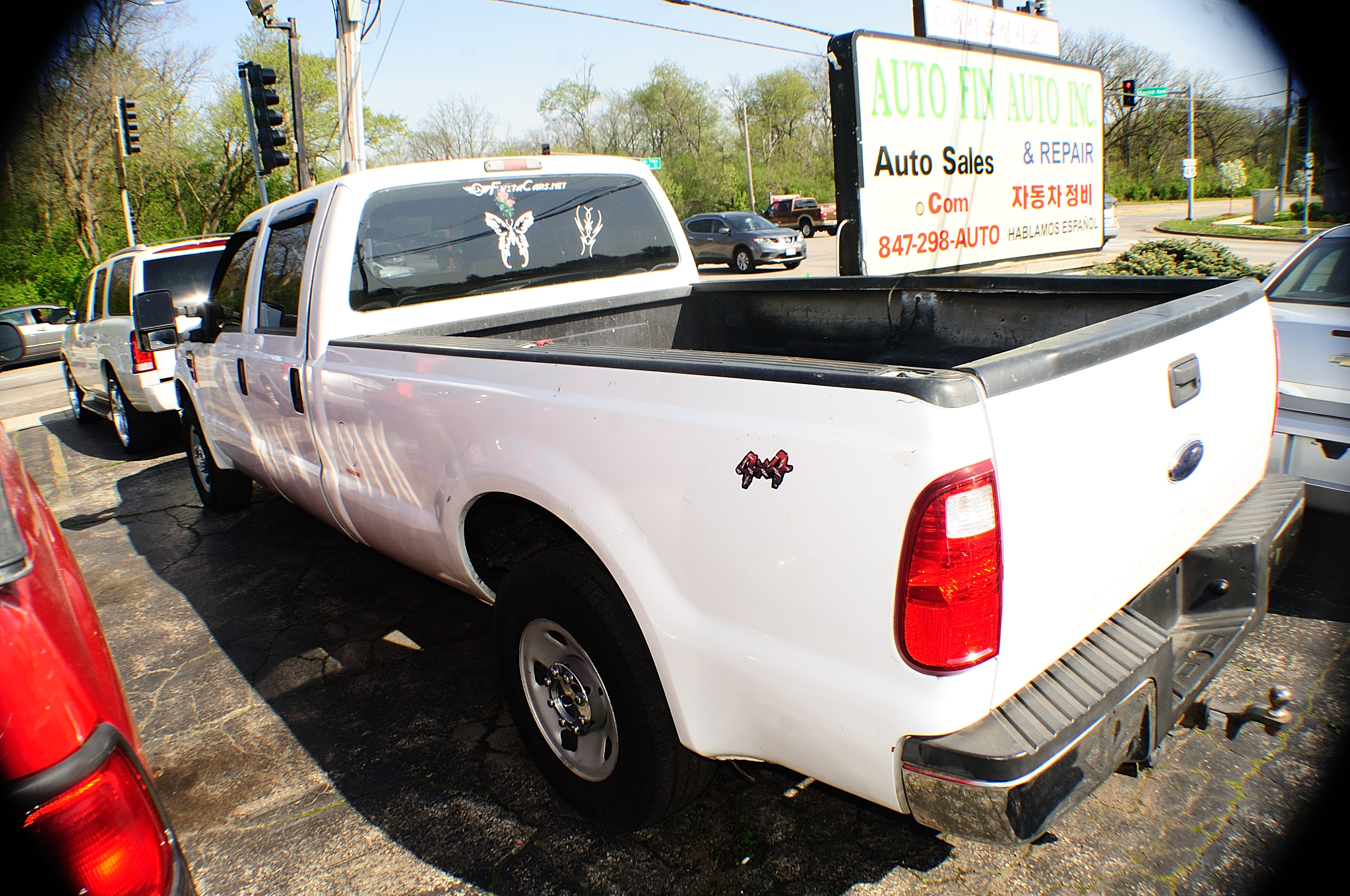 2008 Ford F250 White Crew 4x2 Diesel Truck sale Gurnee Hanover Park Hoffman Estates Lombard