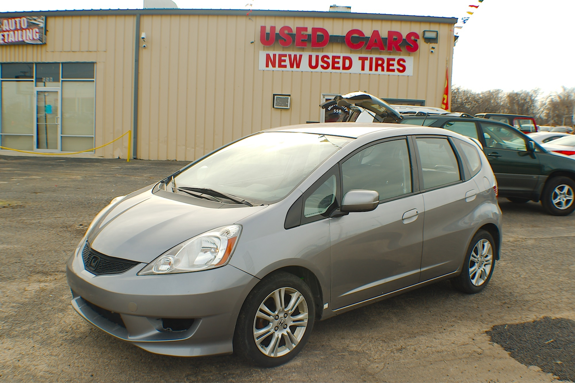 2009 Honda Fit Gray Hatchback Used Car Sale Gurnee Kenosha Mchenry Chicago Illinois