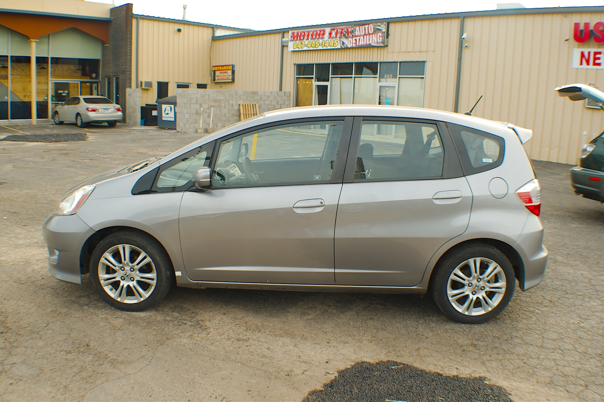 2009 Honda Fit Gray Hatchback Used Car Sale Fox River Grove Grayslake Volo Waucanda
