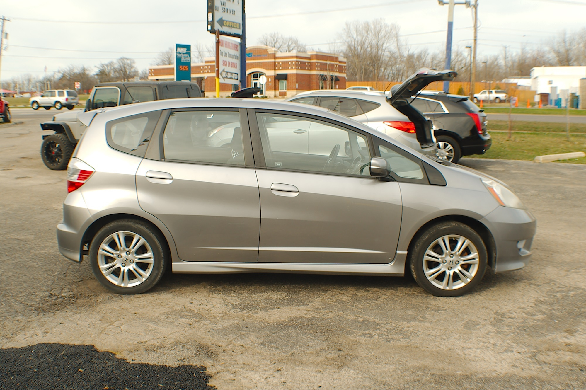 2009 Honda Fit Gray Hatchback Used Car Sale Buffalo Grove Deerfield Fox Lake Antioch