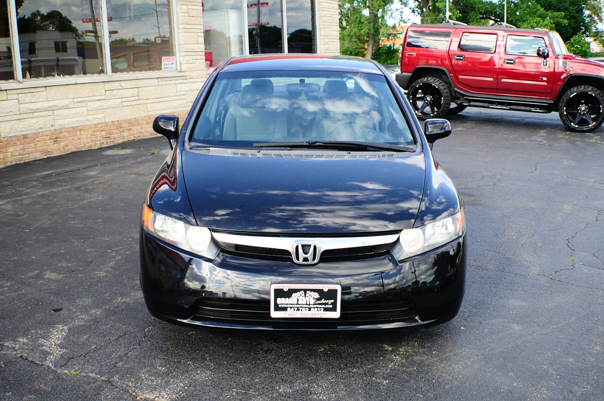 2007 Honda Civic Black Sedan used car sale Gurnee Kenosha Mchenry Chicago Illinois