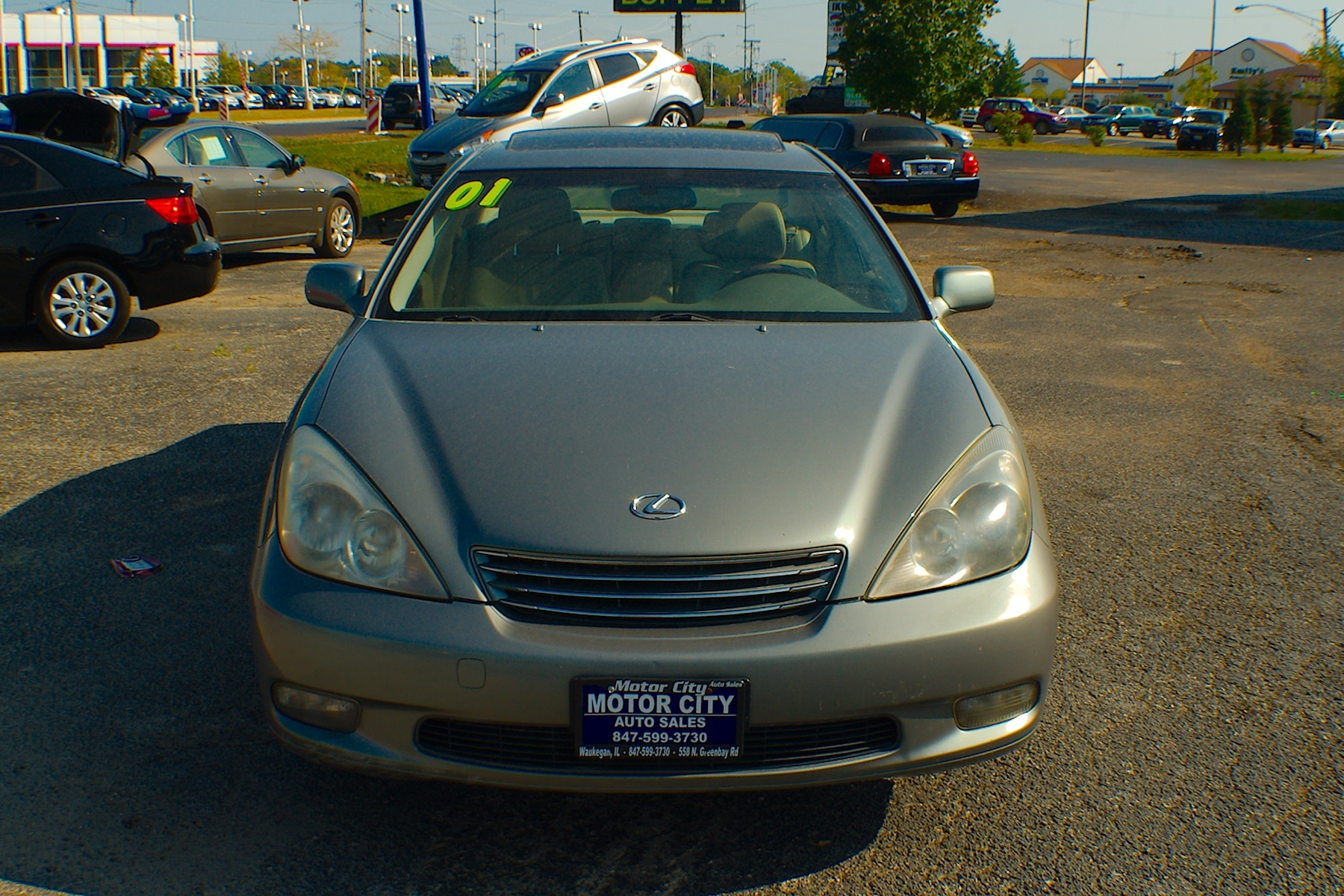 2002 lexus es300 green sedan used car sale web page advertiser