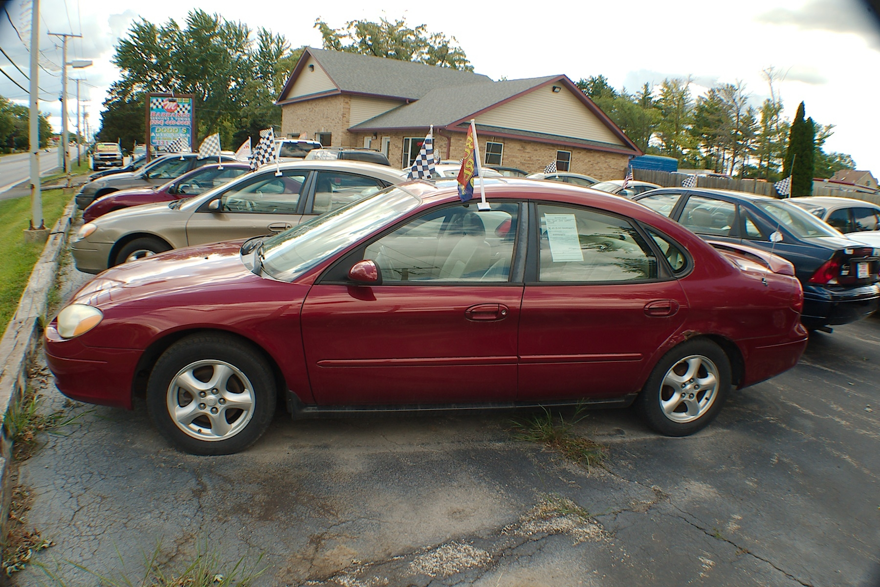 2002 Ford Taurus SES Red Sedan Used Car Sale Antioch Zion Waukegan Lake County Illinois