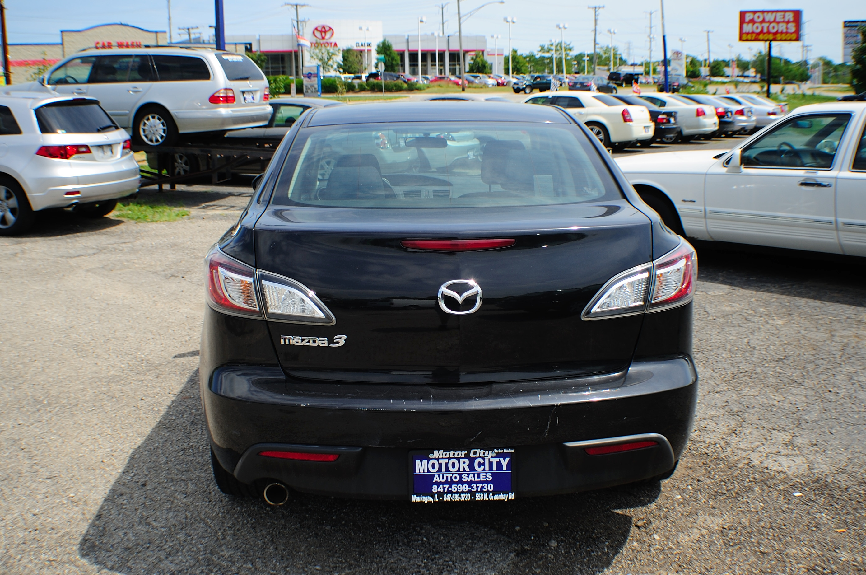 2010 Mazda 3i Black Sport Sedan used car Sale Waukegan Kenosha