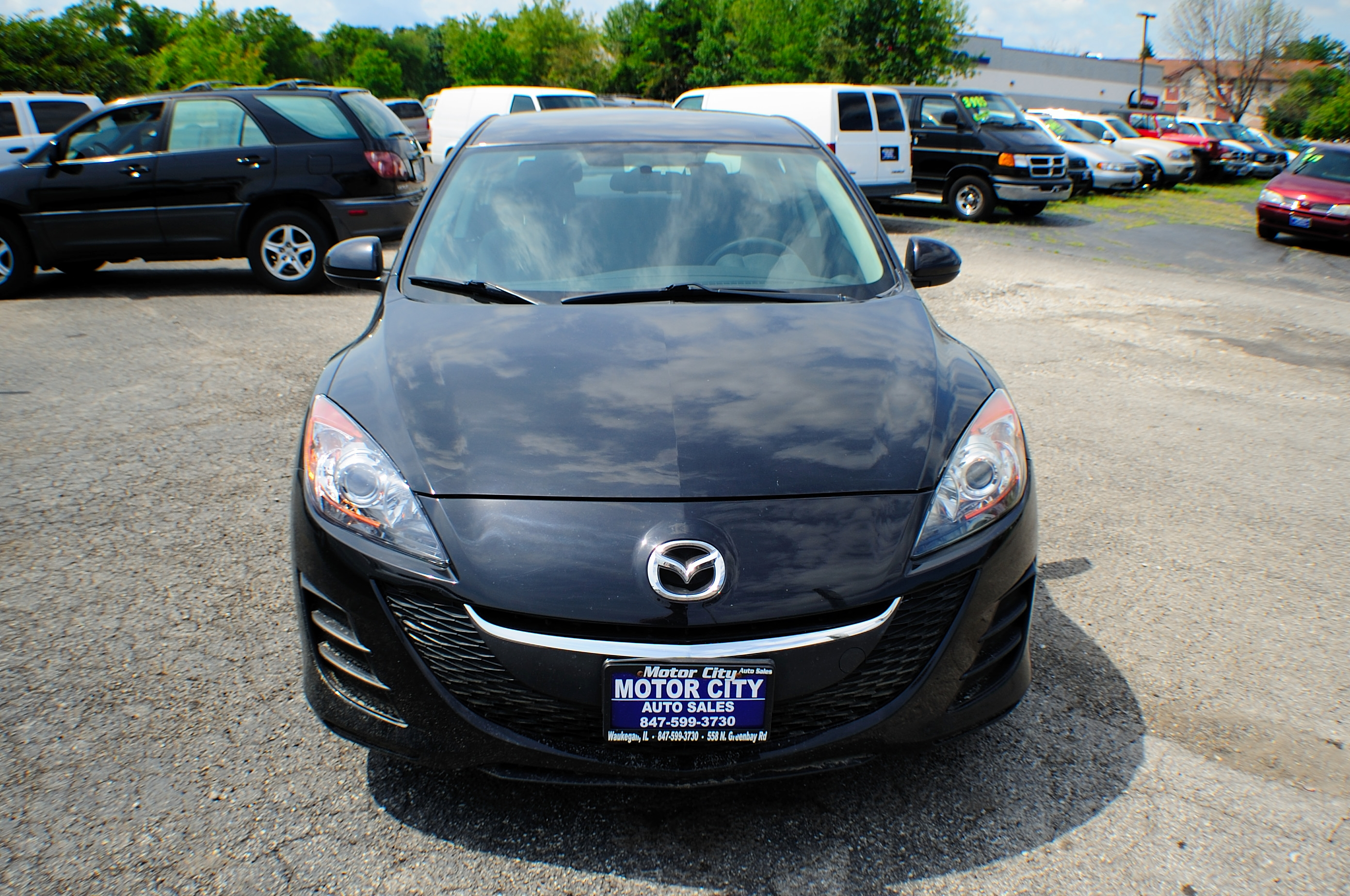 2010 Mazda 3i Black Sport Sedan used car Sale Libertyville Beach Park