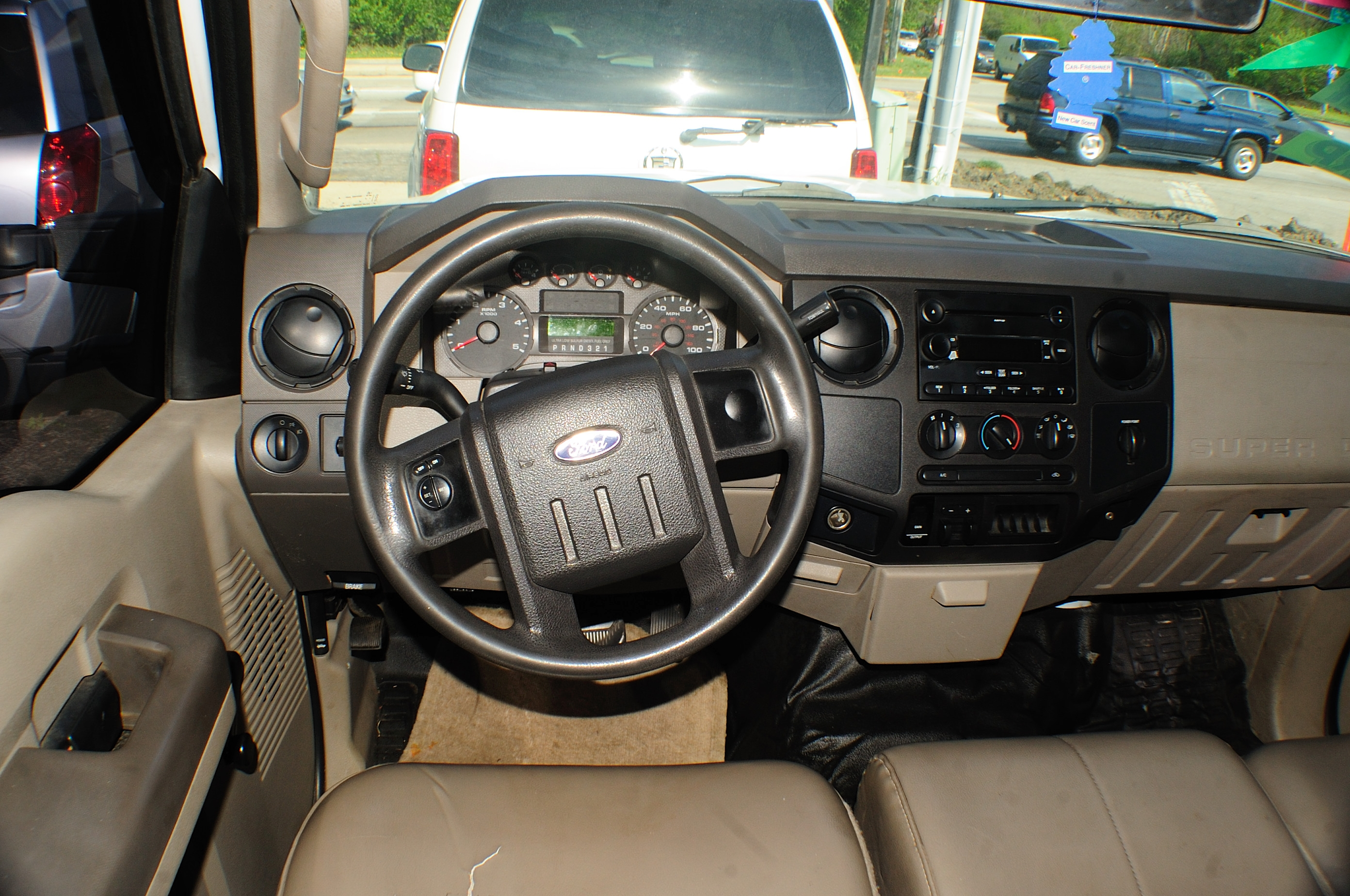2008 Ford F250 White Crew 4x2 Diesel Truck sale Streamwood Tinley Park Wheeling Woodridge