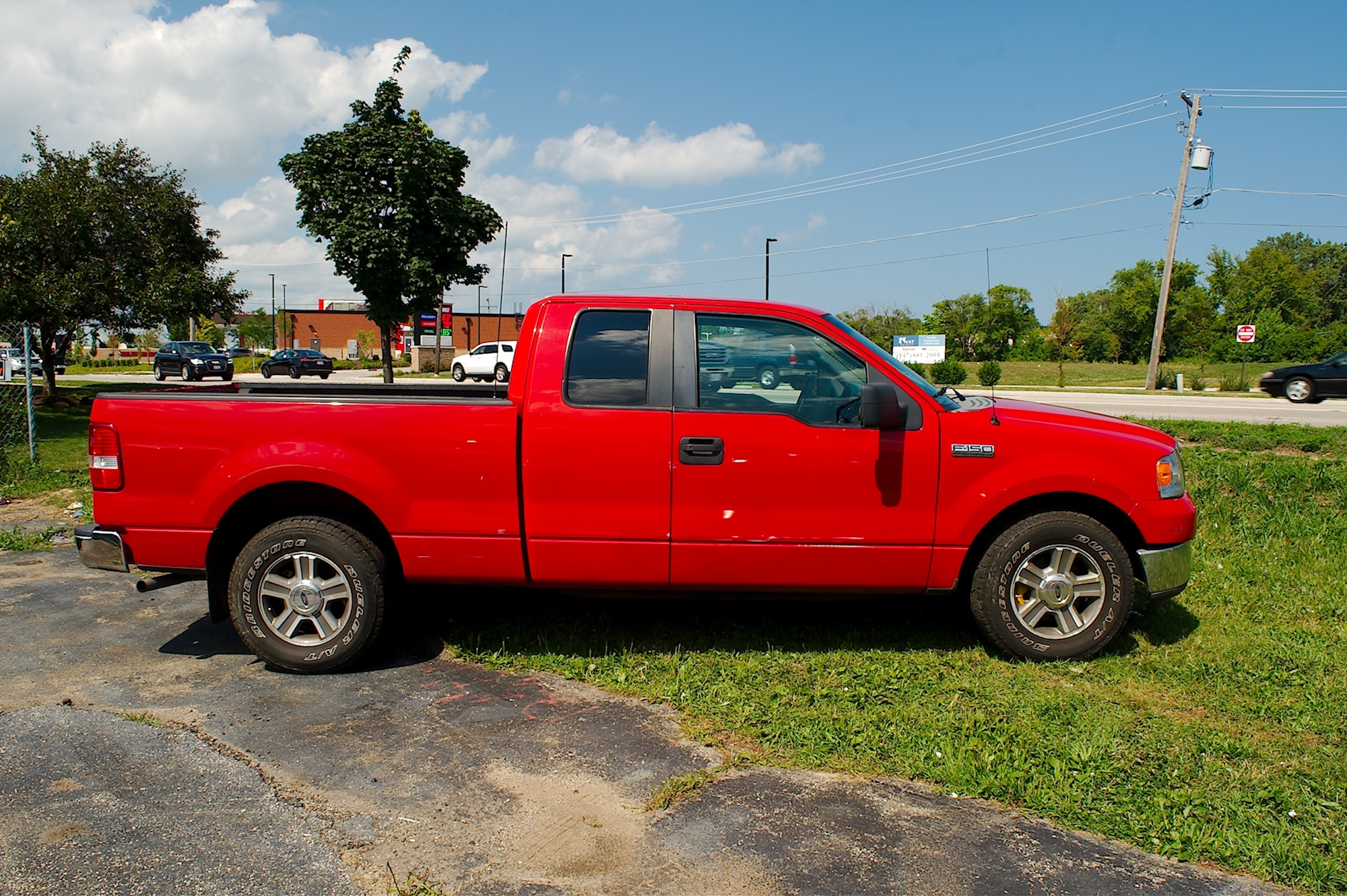 2007 Ford F150 Red 4X2 Used Pickup Truck Sale Antioch Zion Waukegan Lake County Illinois