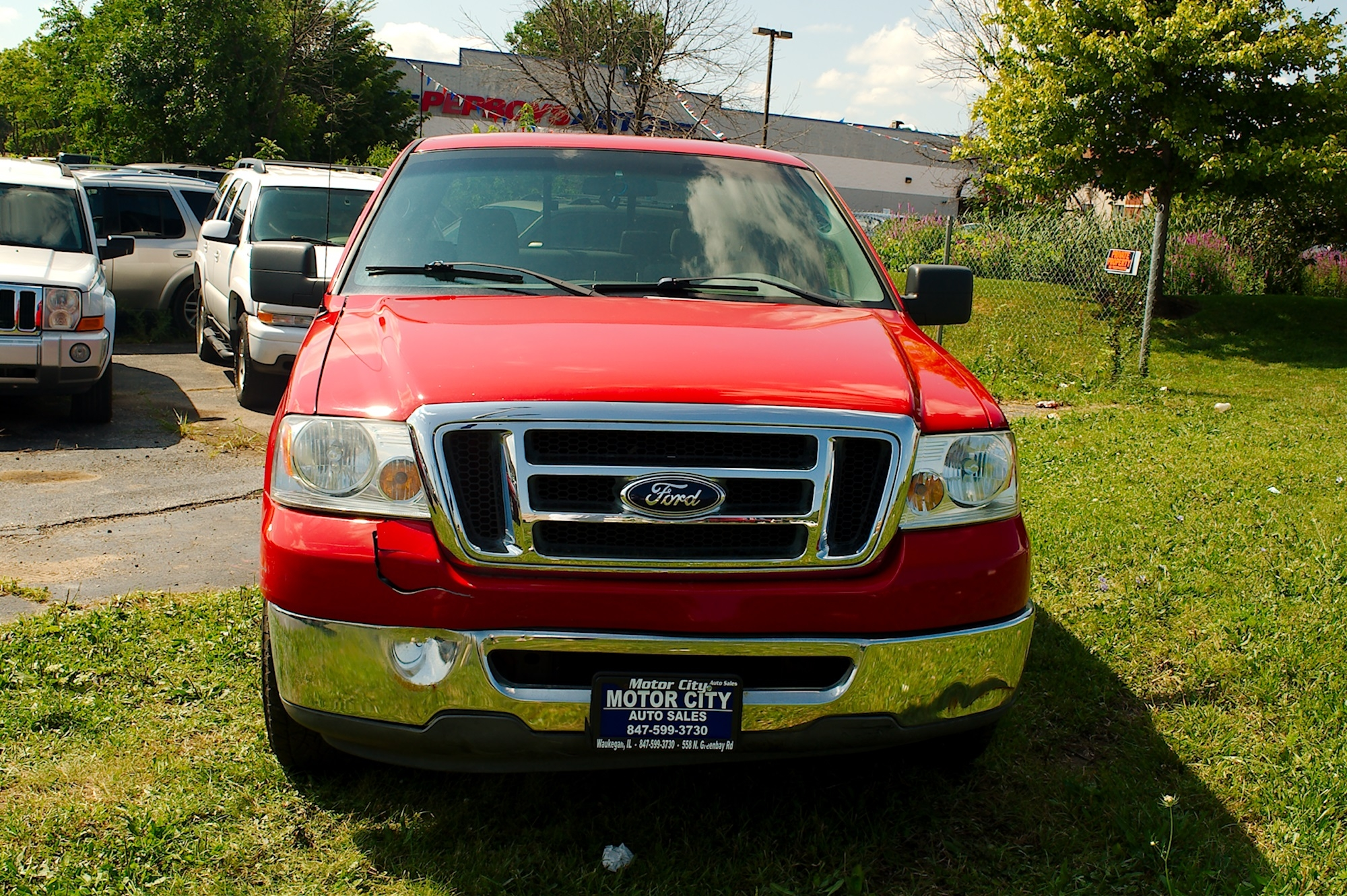 2007 Ford F150 Red 4X2 Used Pickup Truck Sale Gurnee Kenosha Mchenry Chicago Illinois