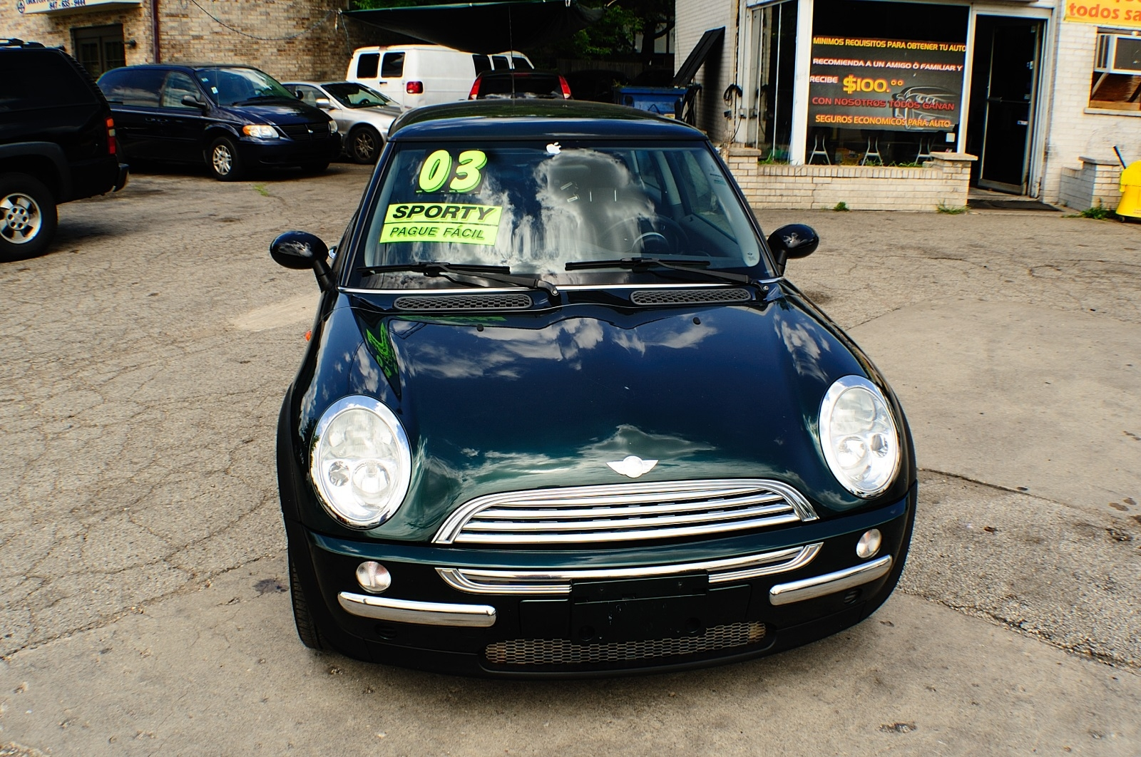 2003 Mini Cooper Green Used Sport Coupe used car sale Buffalo Grove Bollingbrook Carol Stream