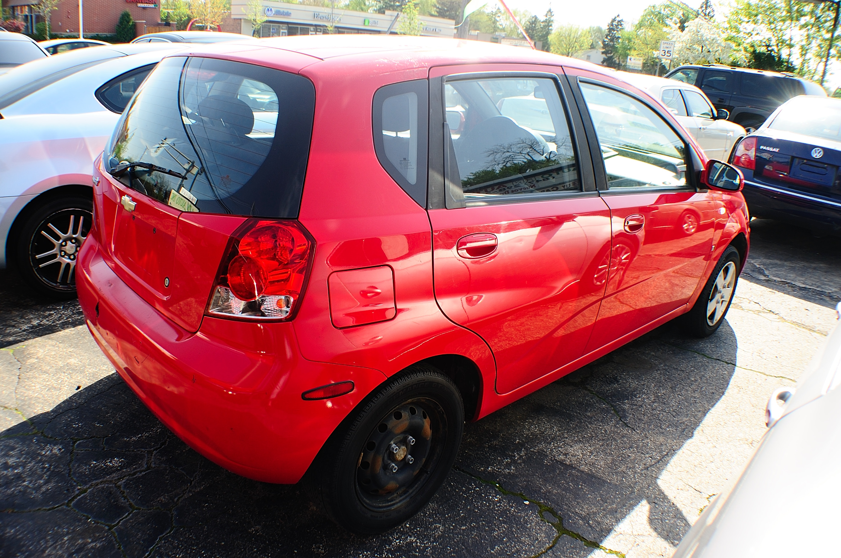 2008 Chevrolet Aveo Red Manual Used Compact car sale Downers Grove Carpentersville Cicero