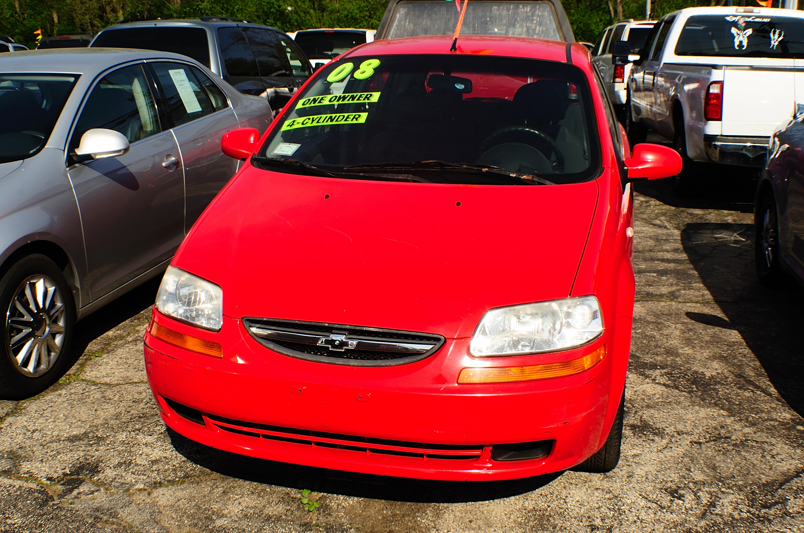 2008 Chevrolet Aveo Red Manual Used Compact car sale Buffalo Grove Bollingbrook Carol Stream