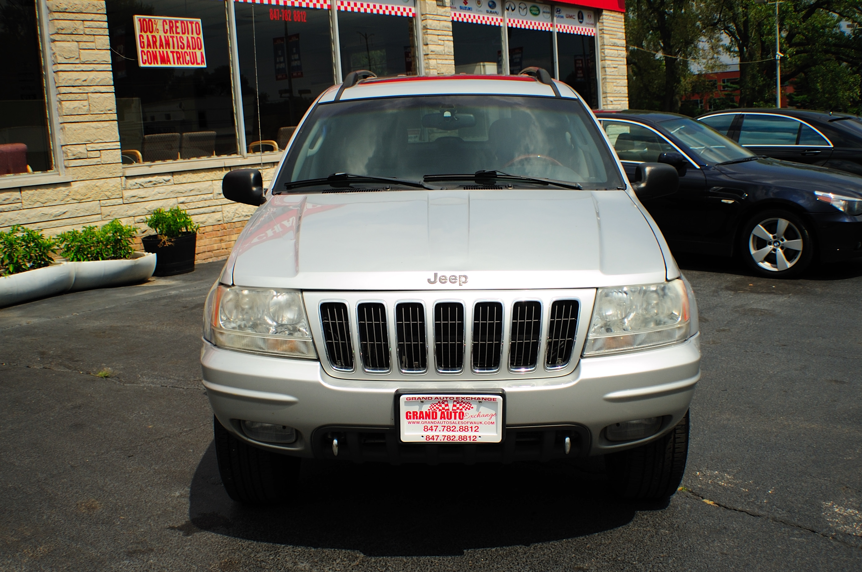 2002 Jeep Grand Cherokee Silver Quadra Drive AWD Used SUV Sale Libertyville Beach Park