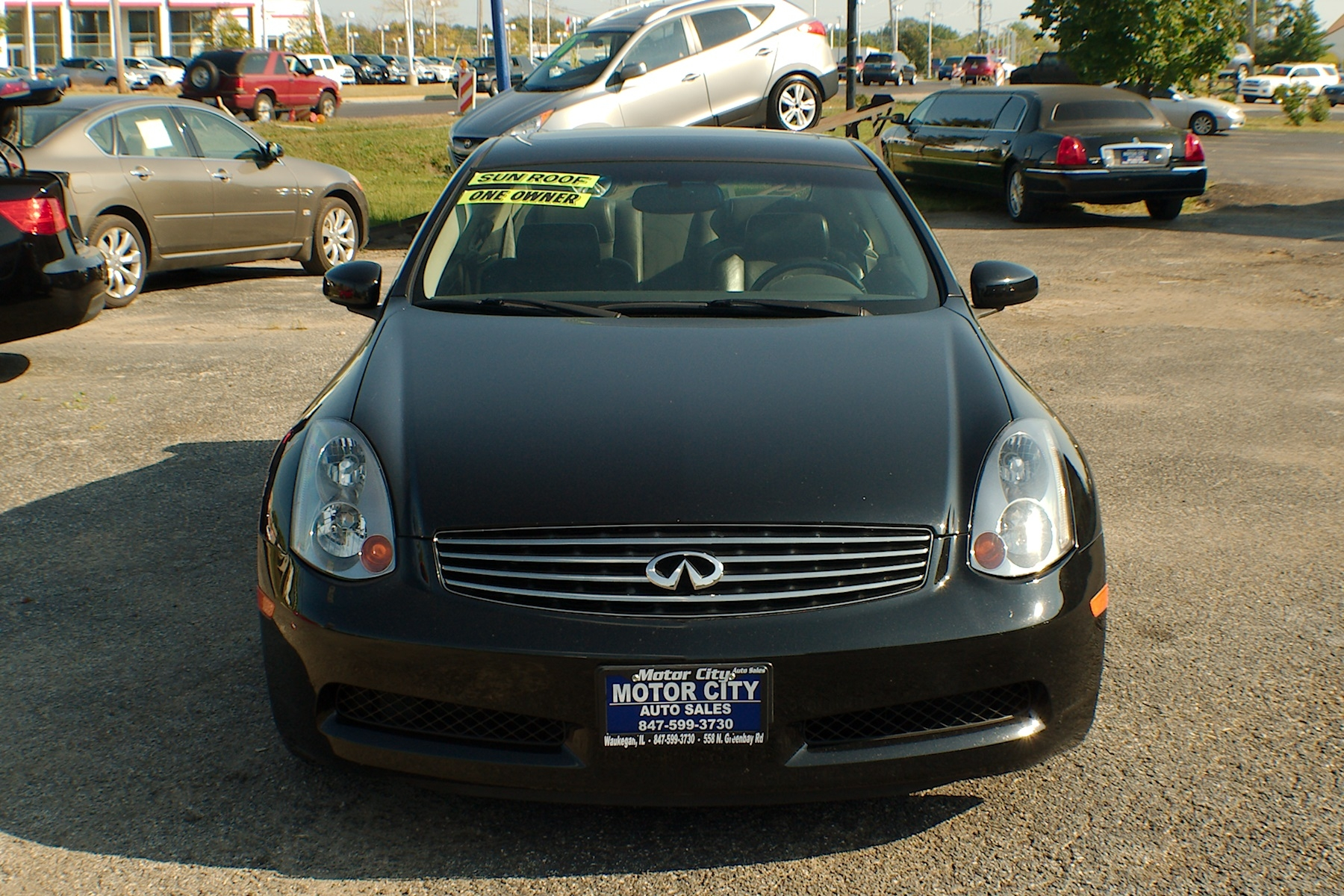 2003 Infiniti G35 Black Sport Coupe used car Sale Gurnee Kenosha Mchenry Chicago Illinois