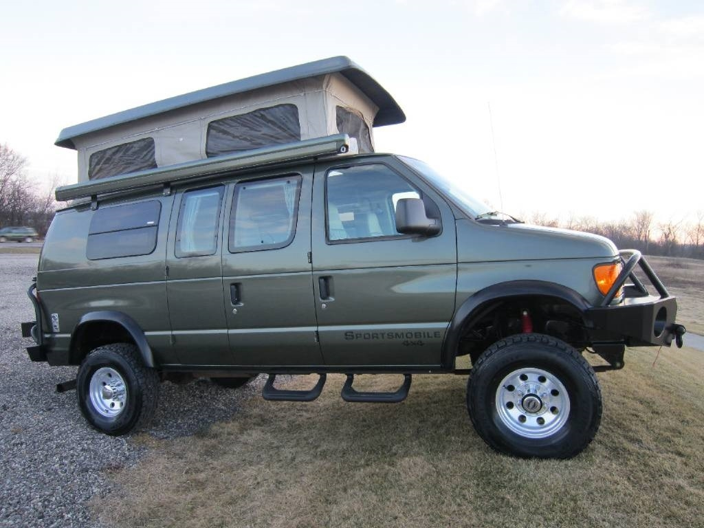 2004 Ford Sportsmobile RB50 Pewter 4x4 Poptop RV Sale Antioch Zion Waukegan Lake County Illinois