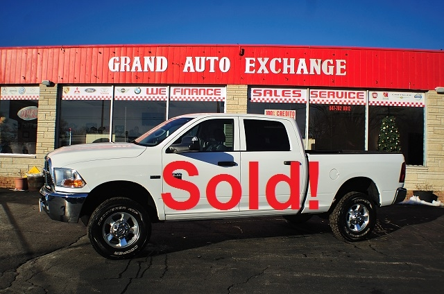 2010 Dodge Ram 2500 HD White Used 4x4 Truck Sale Antioch Zion Waukegan
