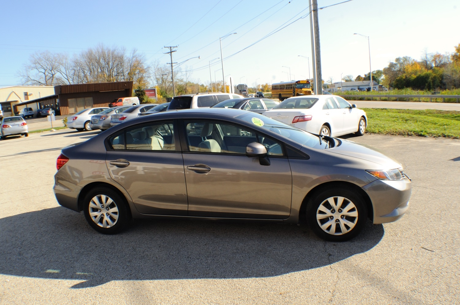 2012 Honda Civic LX Silver Sedan Used Car Sale Bannockburn Barrington Beach Park
