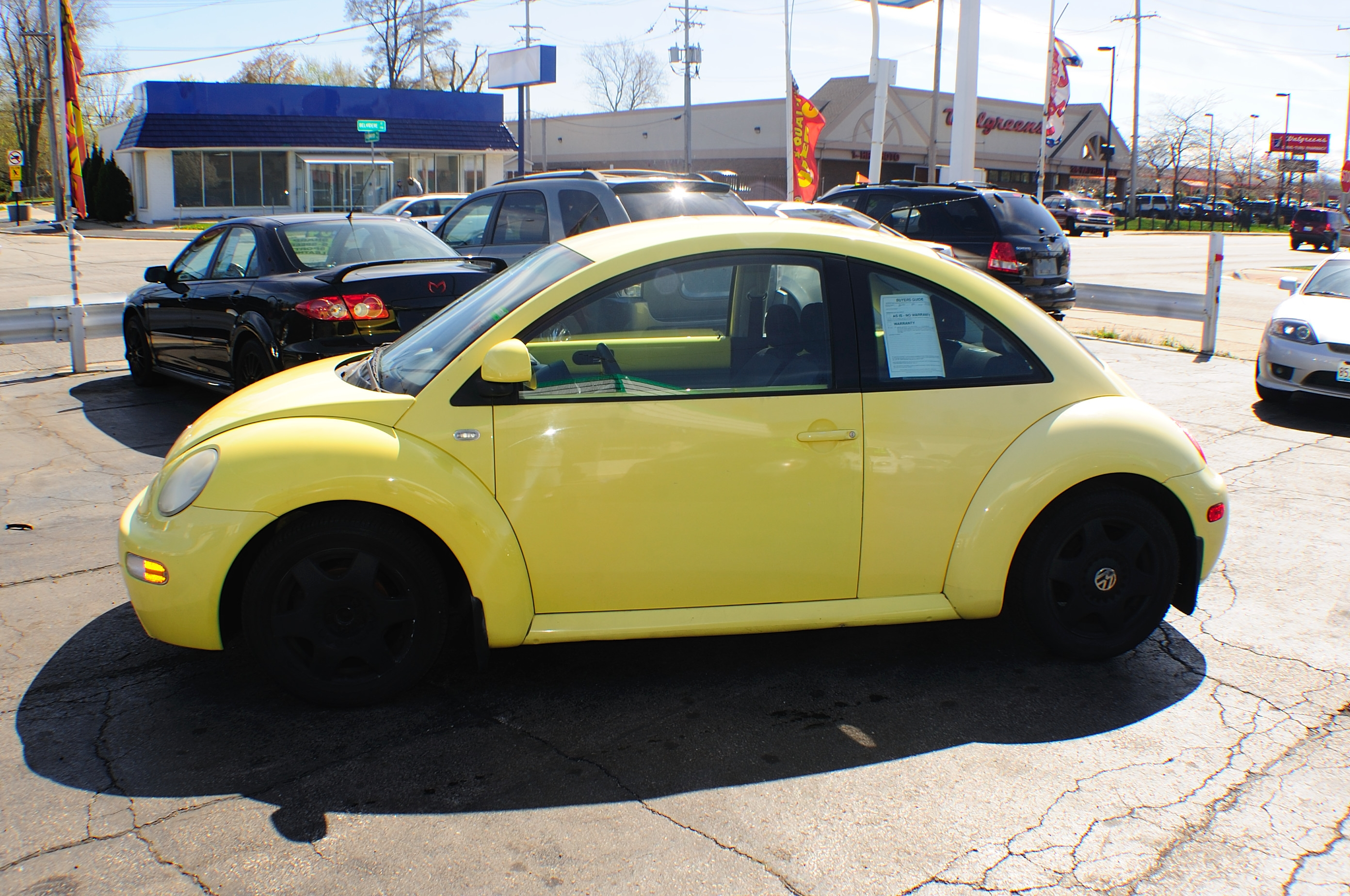 news gallery yellow eurocar beetle volkswagen detail view rear rush