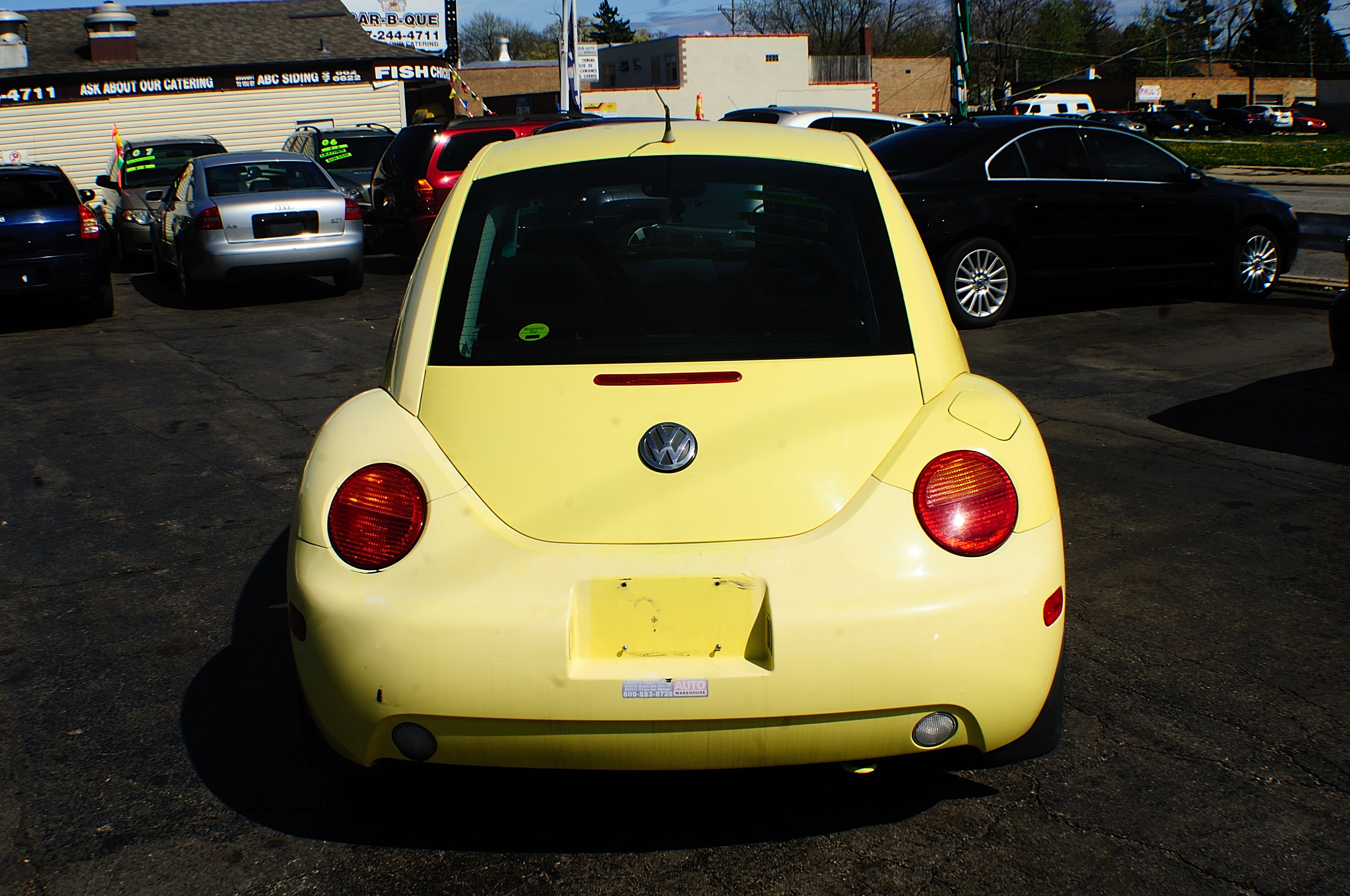 1999 Volkswagen Beetle Yellow Manual used car
