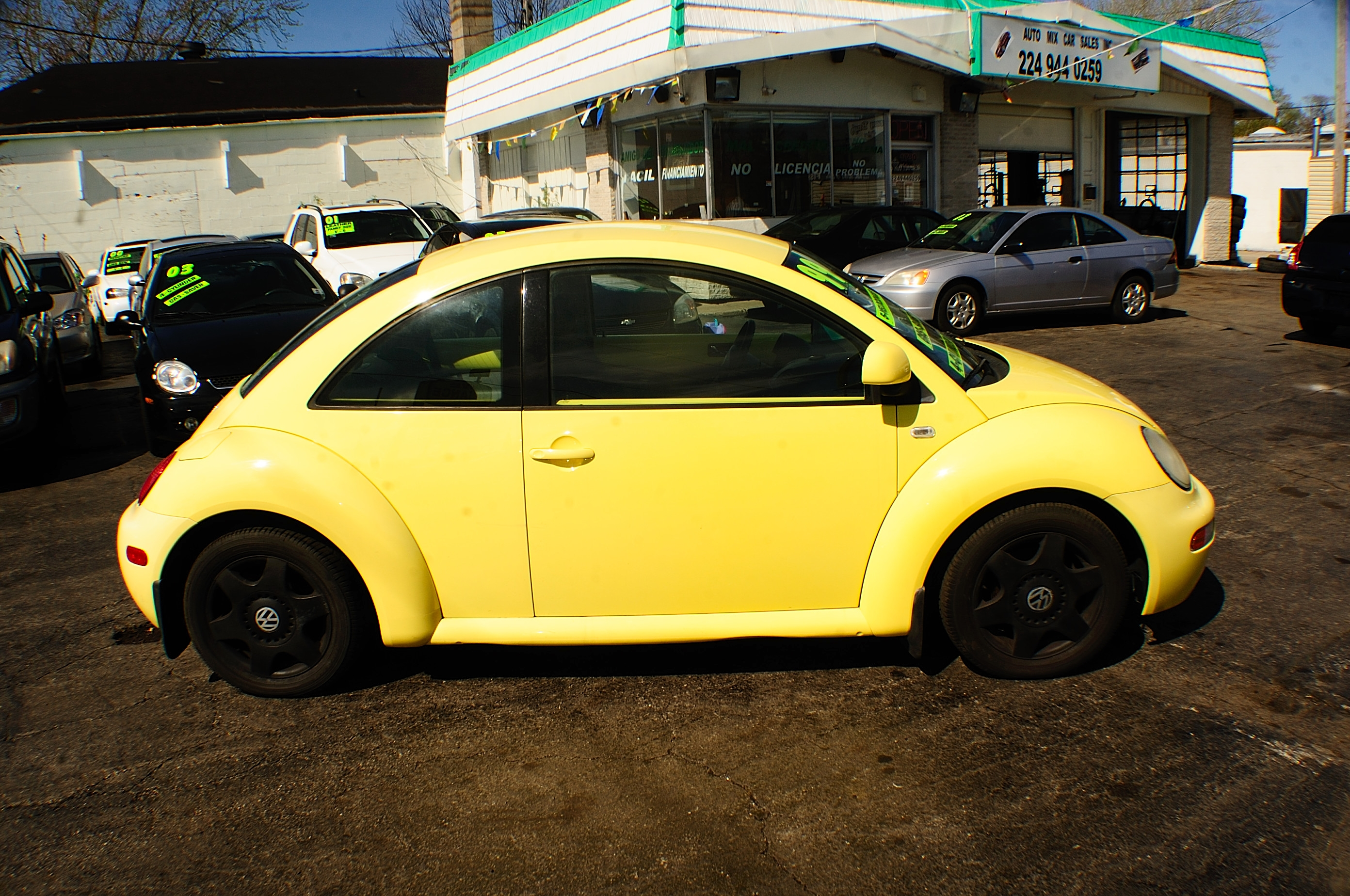 1999 volkswagen beetle yellow manual used car. Black Bedroom Furniture Sets. Home Design Ideas