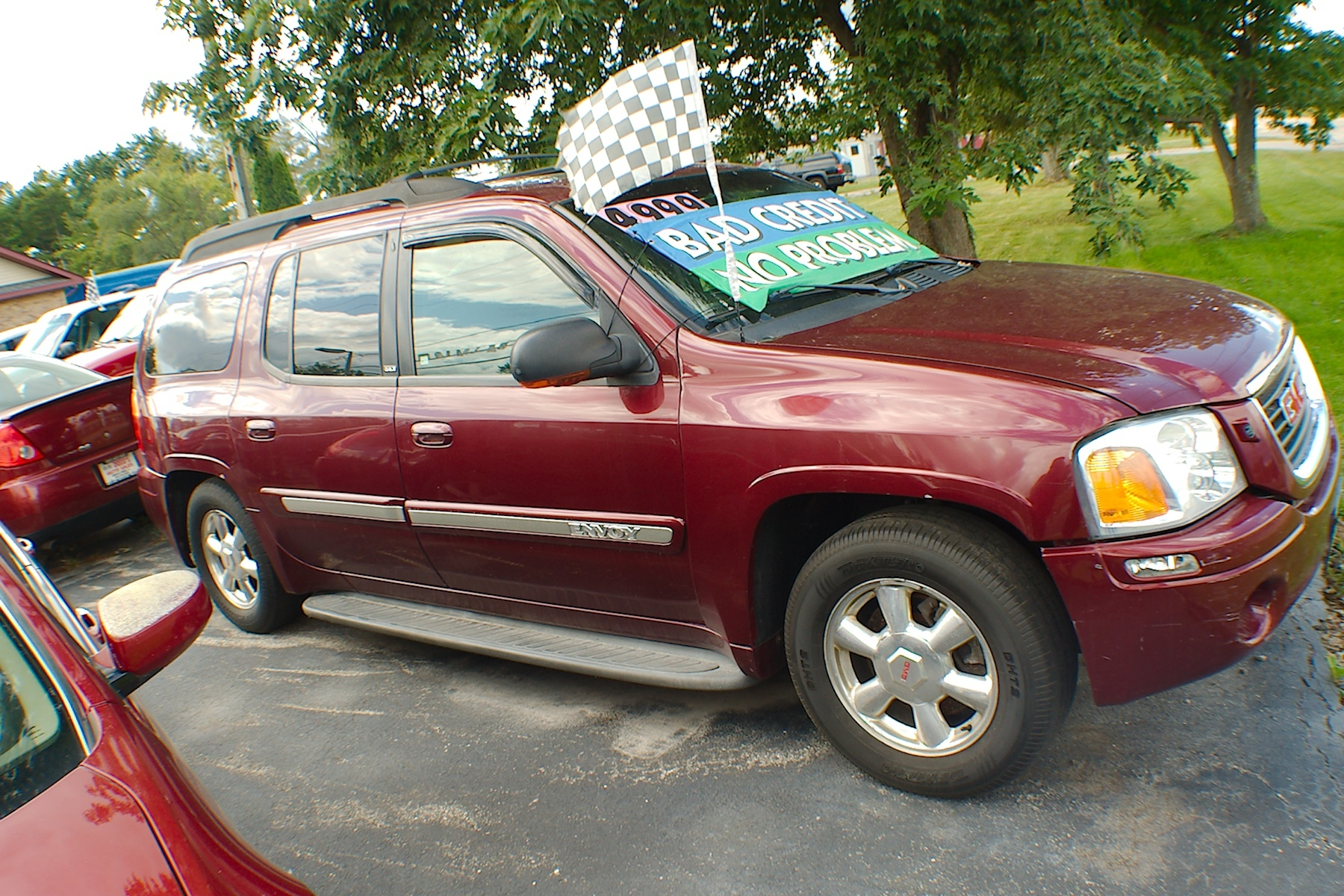 2003 GMC Envoy SLT XL Red SUV Sale Antioch Zion Waukegan Lake County Illinois