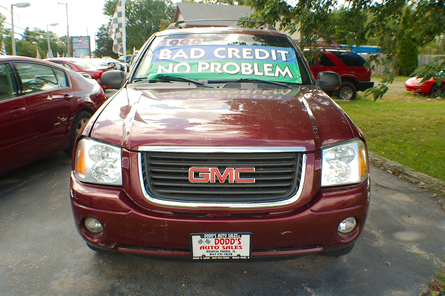 2003 GMC Envoy SLT XL Red SUV Sale Gurnee Kenosha Mchenry Chicago Illinois