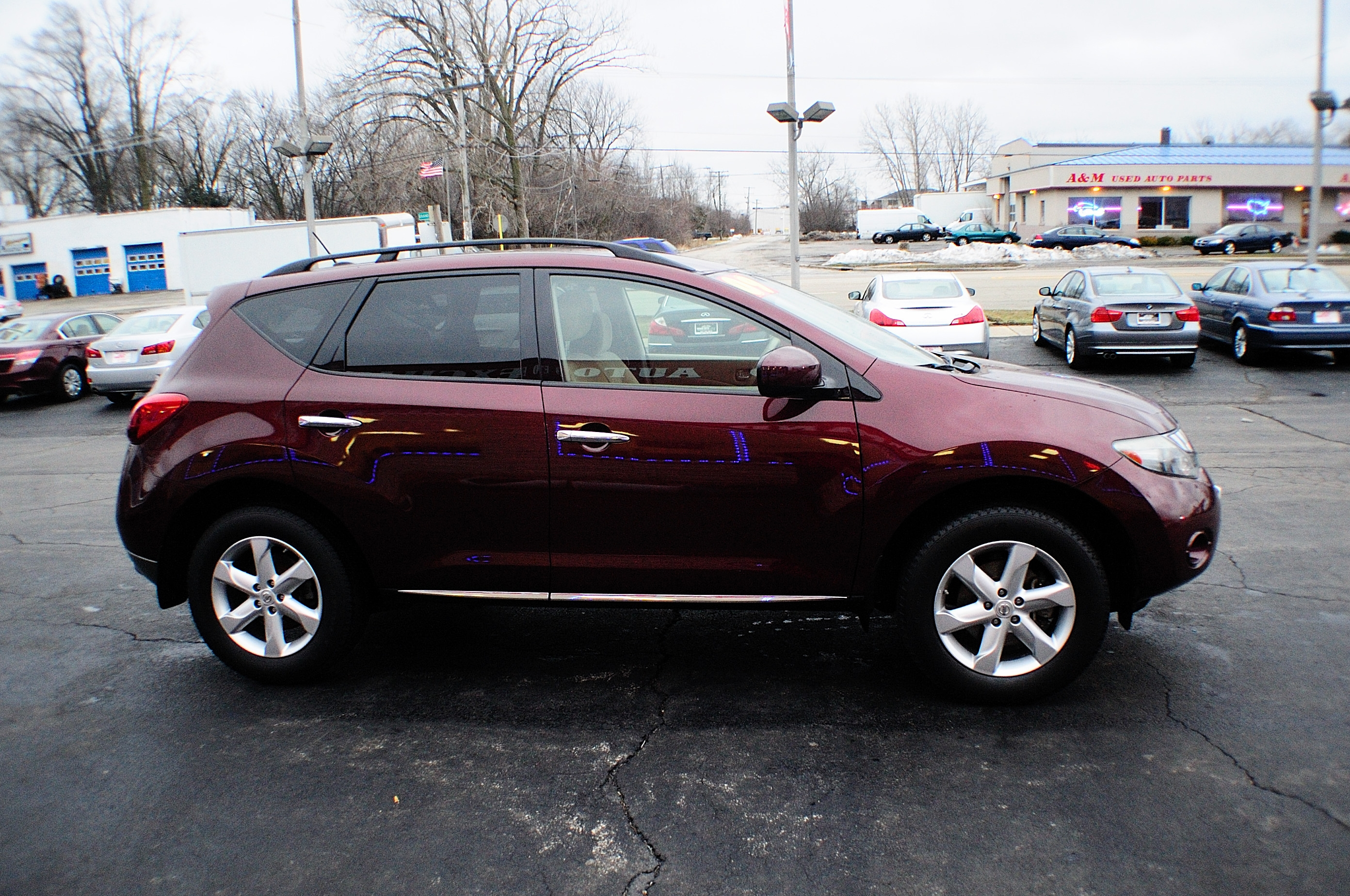 2009 nissan murano sl burgundy sport used suv sale. Black Bedroom Furniture Sets. Home Design Ideas