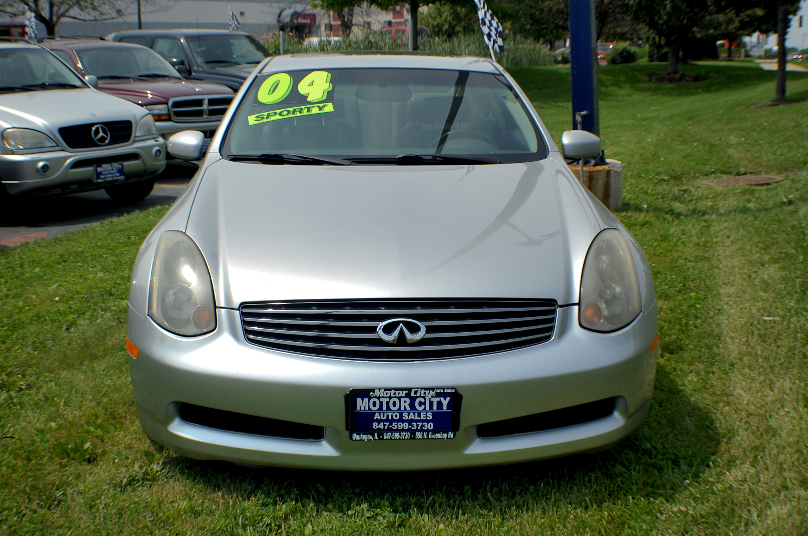 2004 infiniti g35 silver sport coupe used car sale. Black Bedroom Furniture Sets. Home Design Ideas