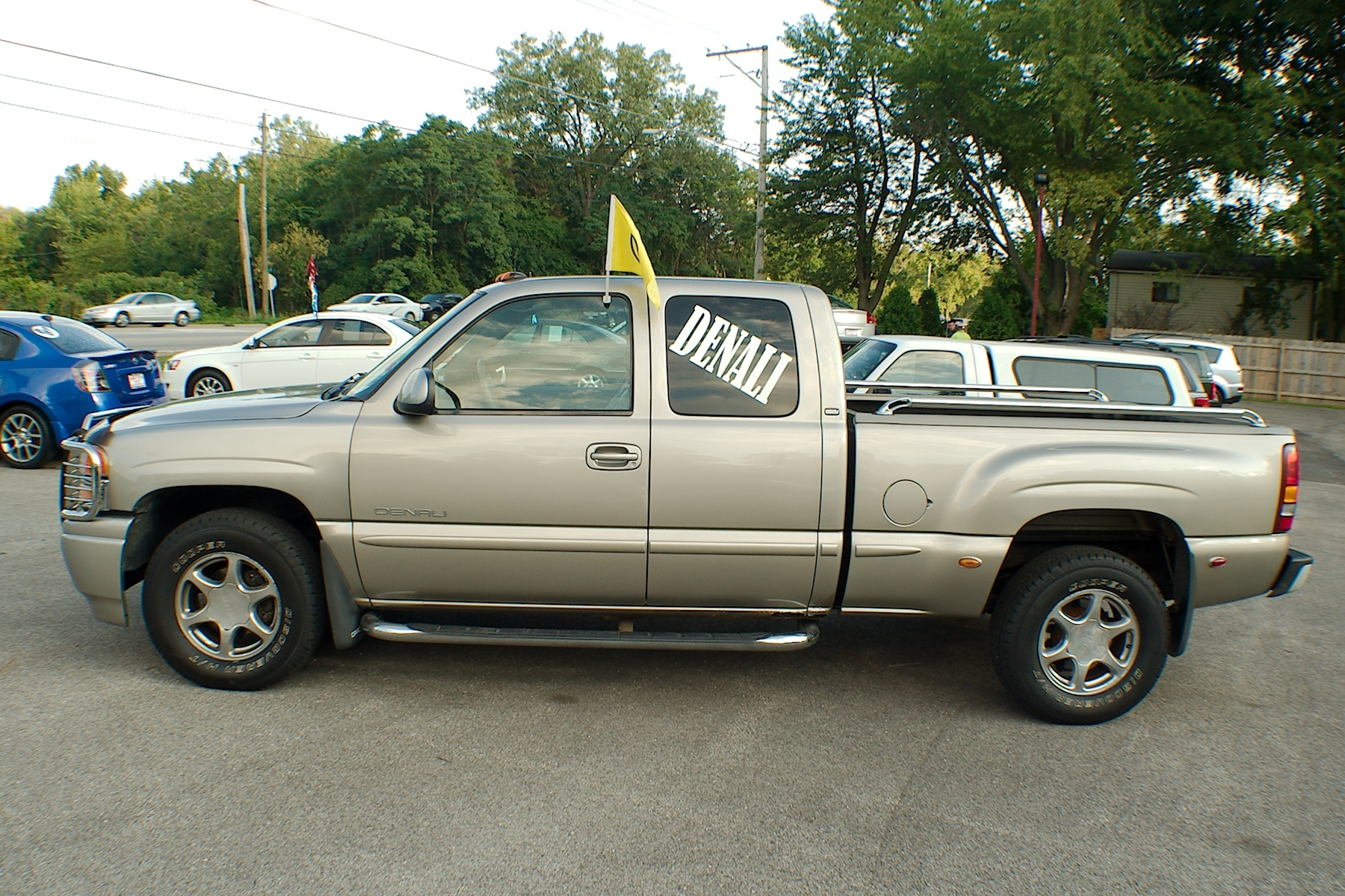 2002 GMC Sierra Pewter Used 4x4 Quad Steer Used Truck Sale Antioch Zion Waukegan Lake County Illinois