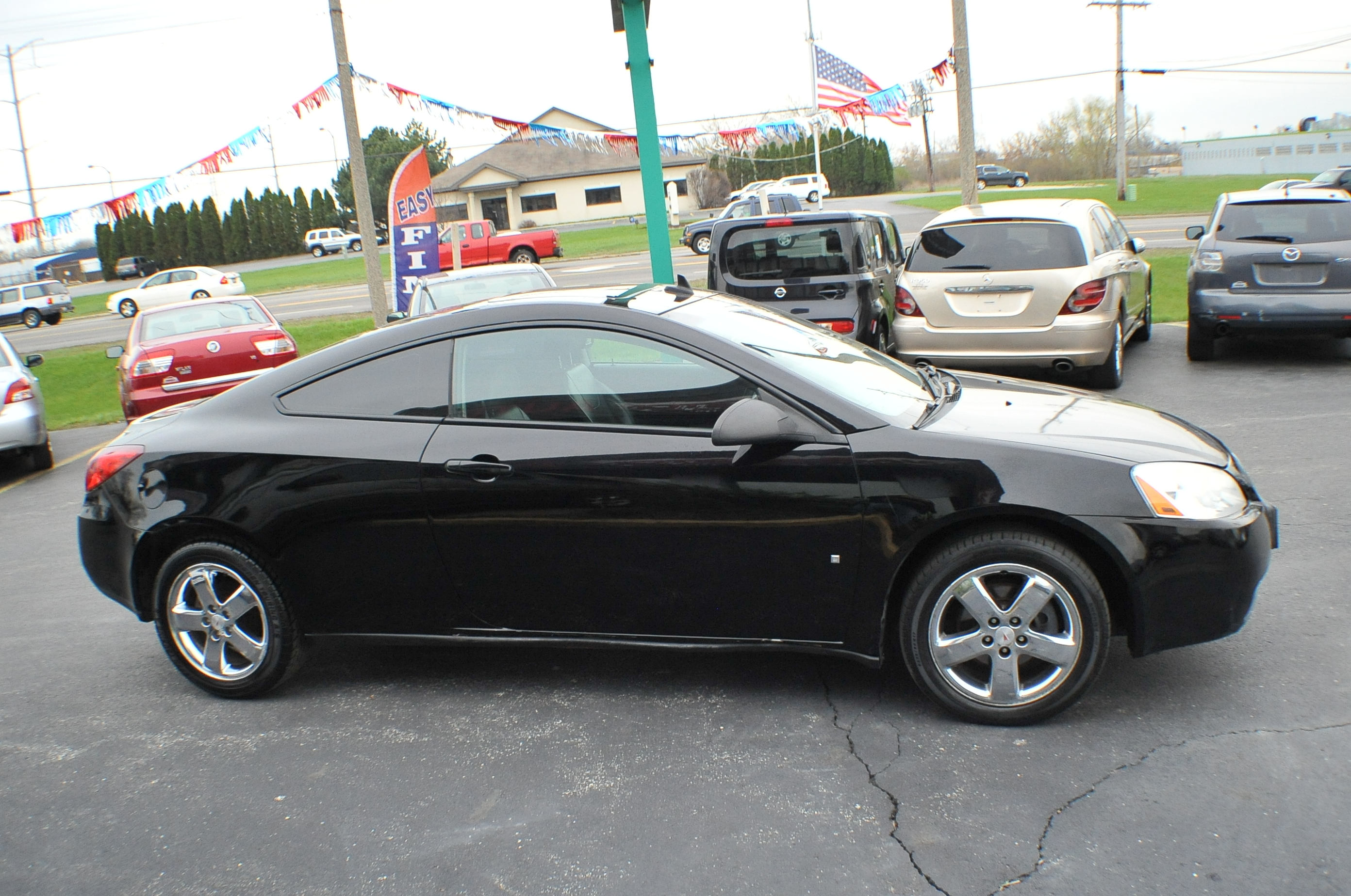 2008 pontiac g6 black gt coupe used car sale. Black Bedroom Furniture Sets. Home Design Ideas