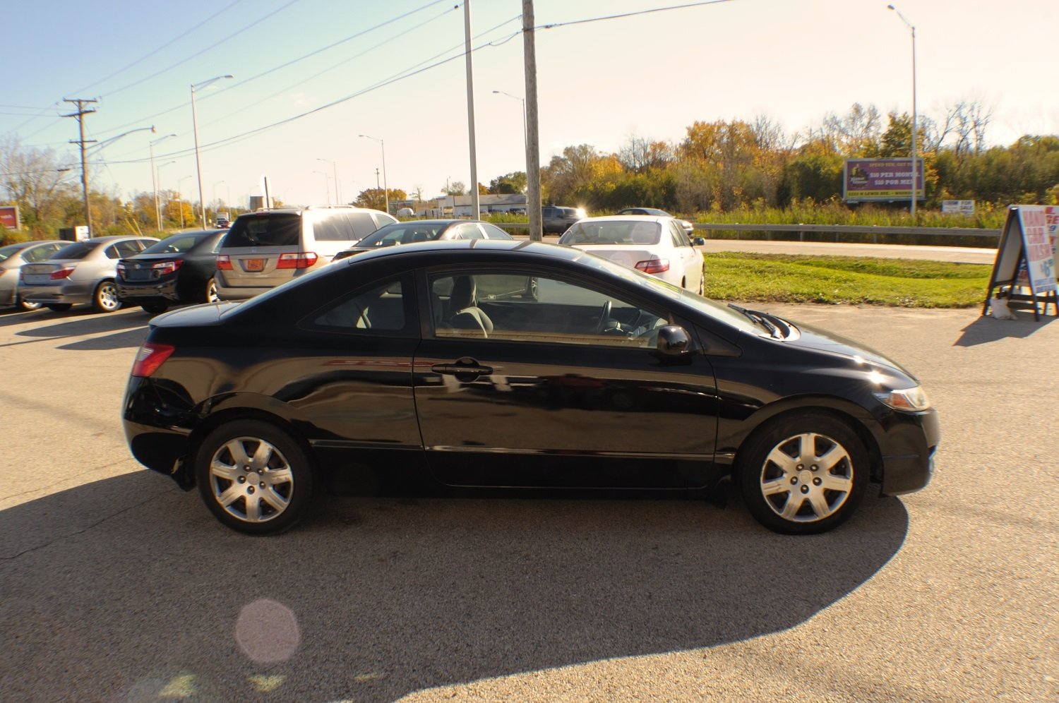 2010 Honda Civic Black Coupe Used Car Sale Bannockburn Barrington Beach Park