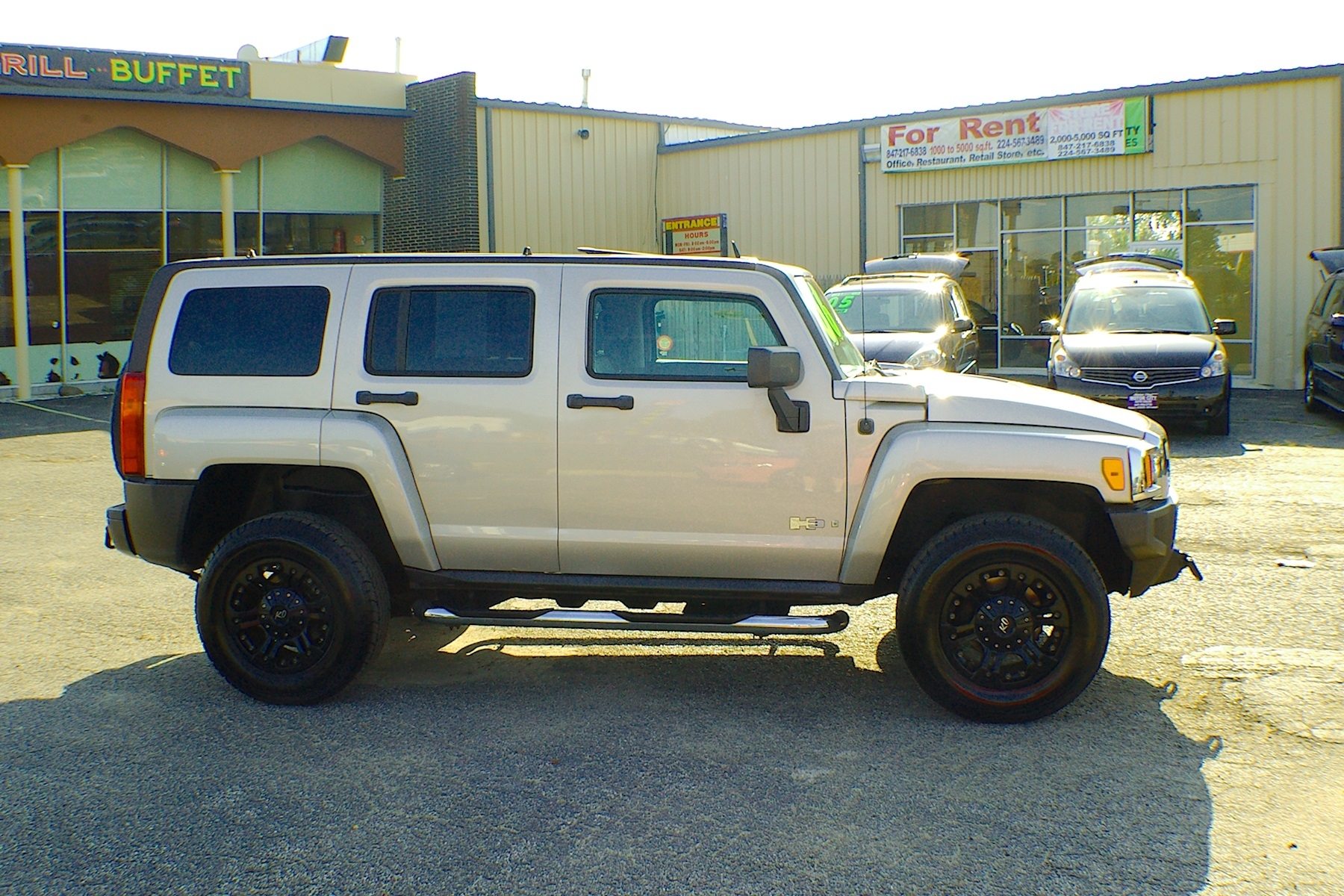 2006 Hummer H3 Pewter 4x4 SUV Used Car Sale Buffalo Grove Deerfield Fox Lake Antioch