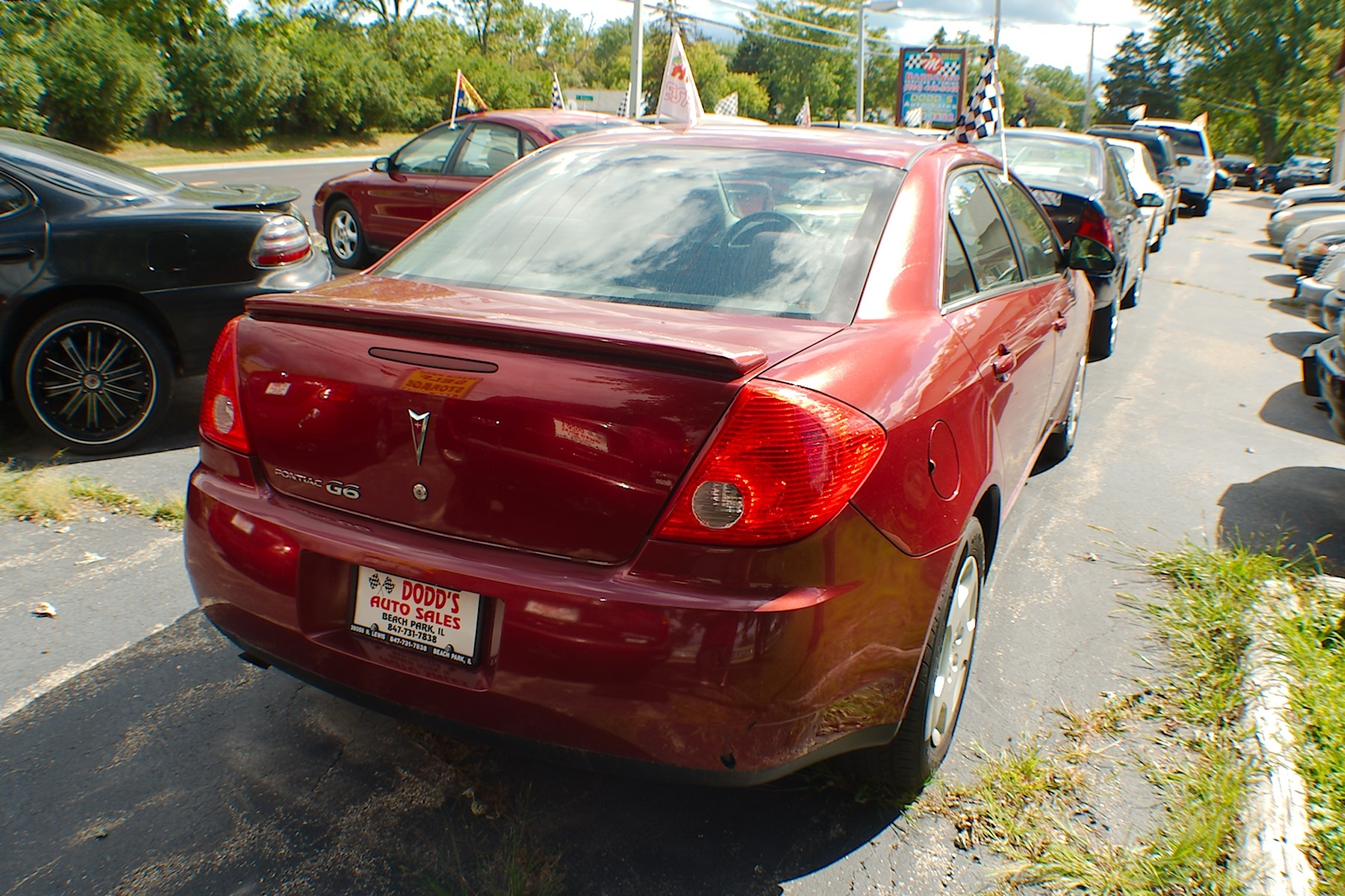 2008 Pontiac G6 Red Sedan Used Car Sale Buffalo Grove Deerfield Fox Lake Antioch