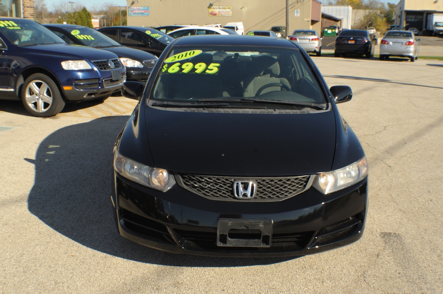2010 Honda Civic Black Coupe Used Car Sale Gurnee Kenosha Mchenry Chicago Illinois