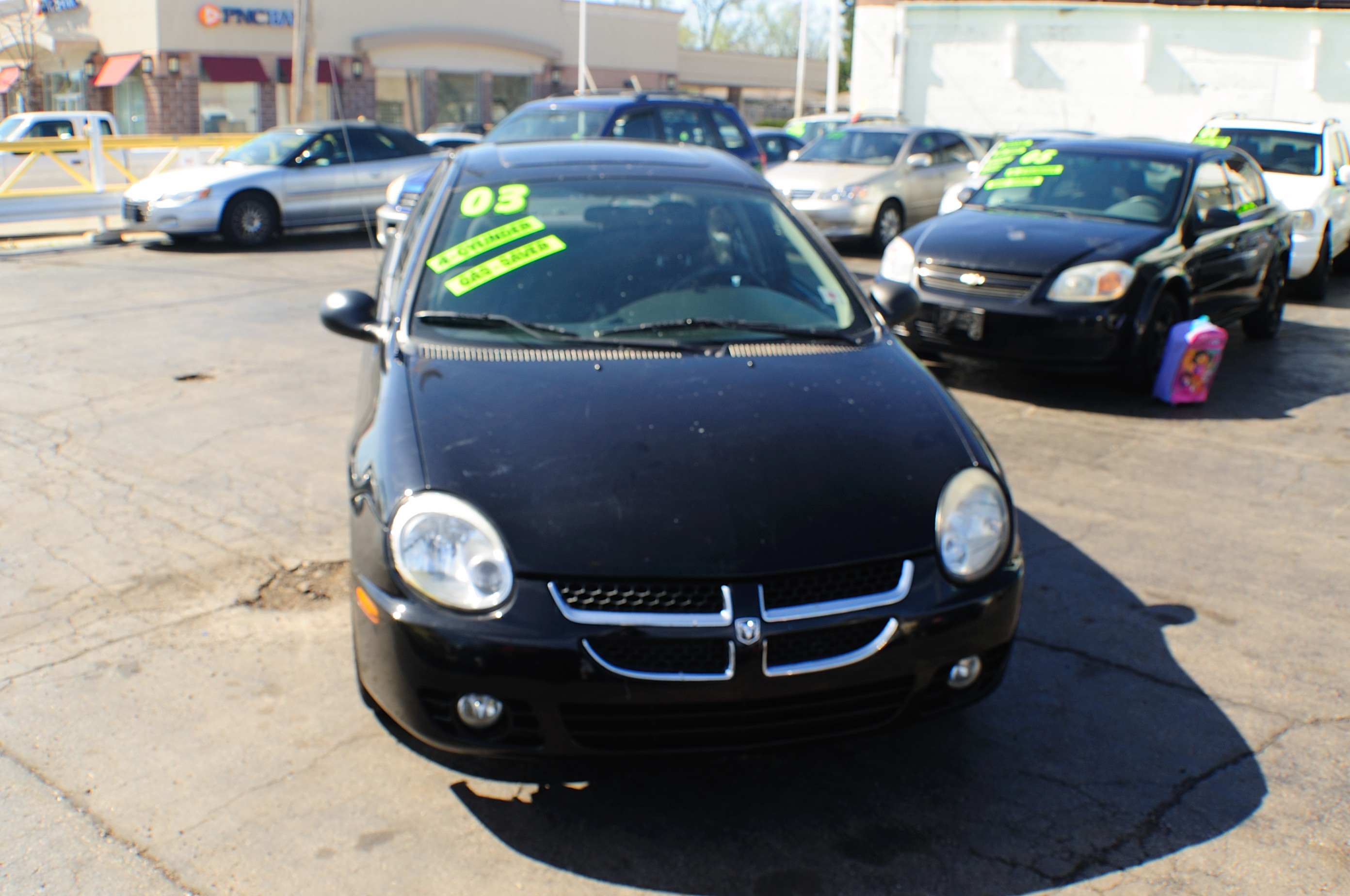 2003 Dodge Neon Black 4Dr Sedan Used Car sale Gurnee Kenosha Mchenry Chicago Illinois