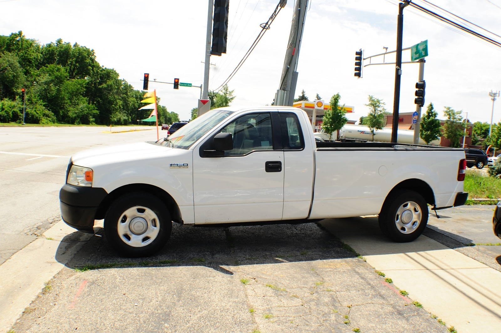2006 Ford F150 White Ext Cab 4x2 Used Pickup Truck Sale Addison Algonquin Arlington Heights Bartlett