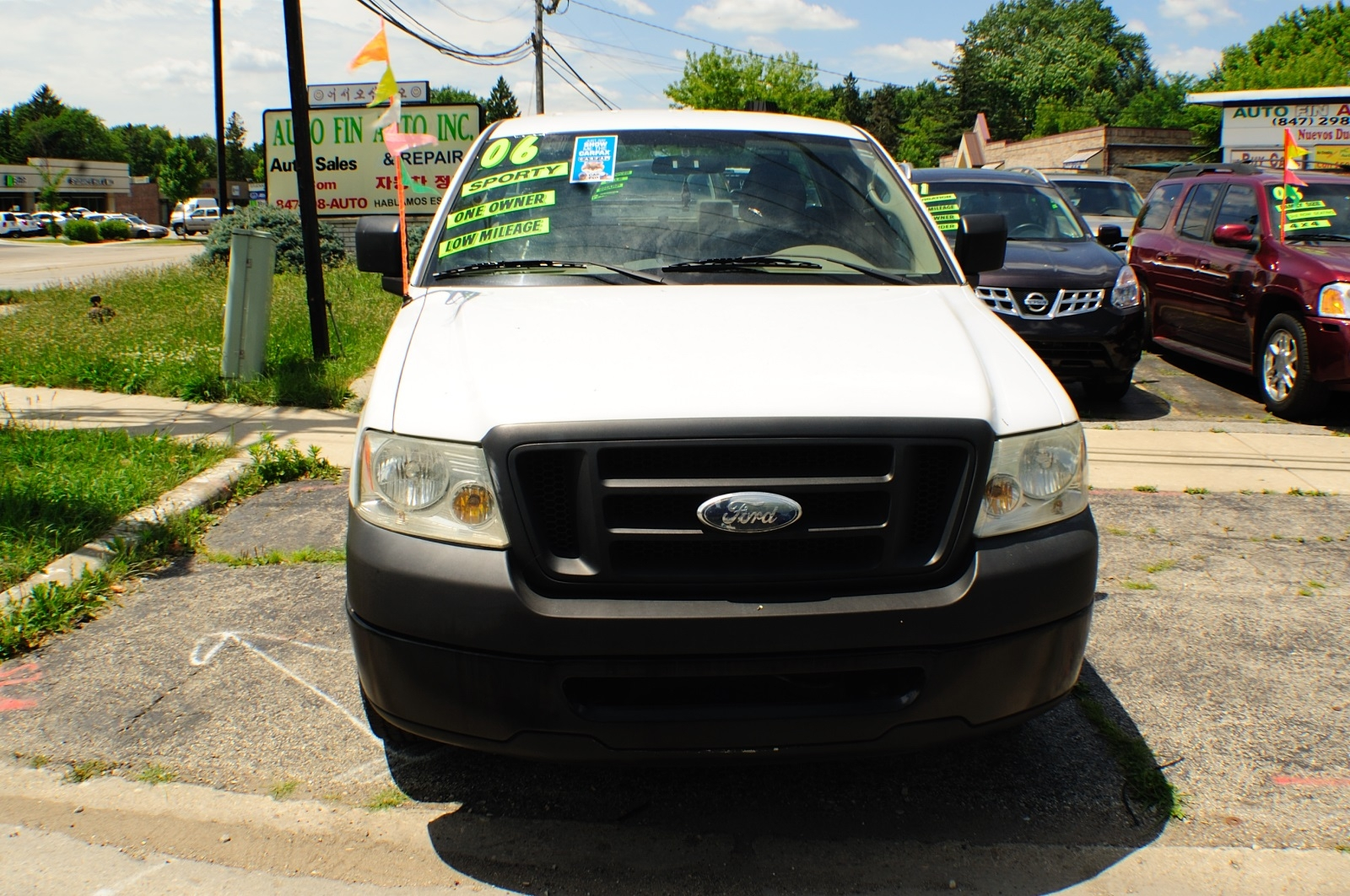 2006 Ford F150 White Ext Cab 4x2 Used Pickup Truck Sale Buffalo Grove Bollingbrook Carol Stream Illinois
