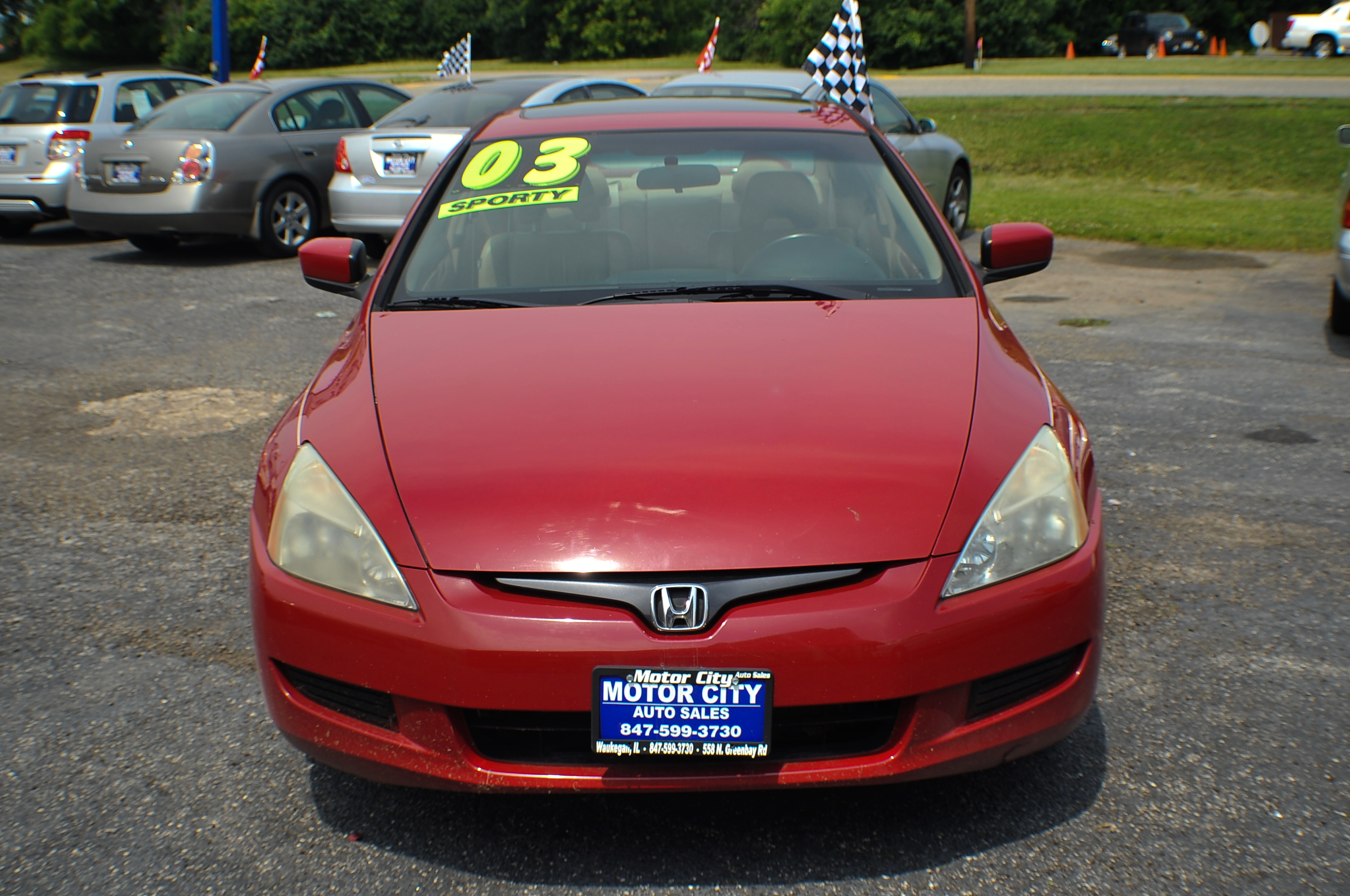 2003 honda accord red v6 sport coupe used car sale. Black Bedroom Furniture Sets. Home Design Ideas