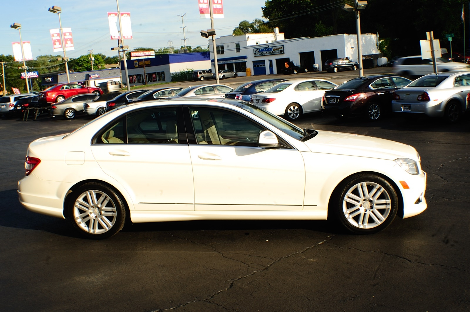 2010 Mercedes Benz C300 4Matic AWD White Sport Sedan sale Bannockburn Barrington Beach Park