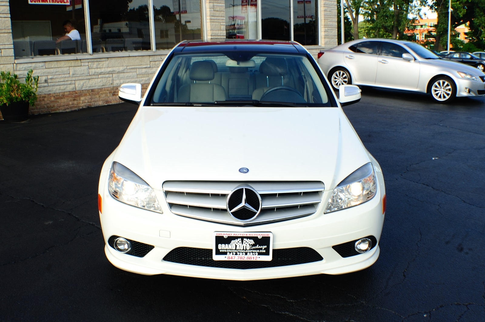 2010 Mercedes Benz C300 4Matic AWD White Sport Sedan sale Gurnee Kenosha Mchenry Chicago Illinois