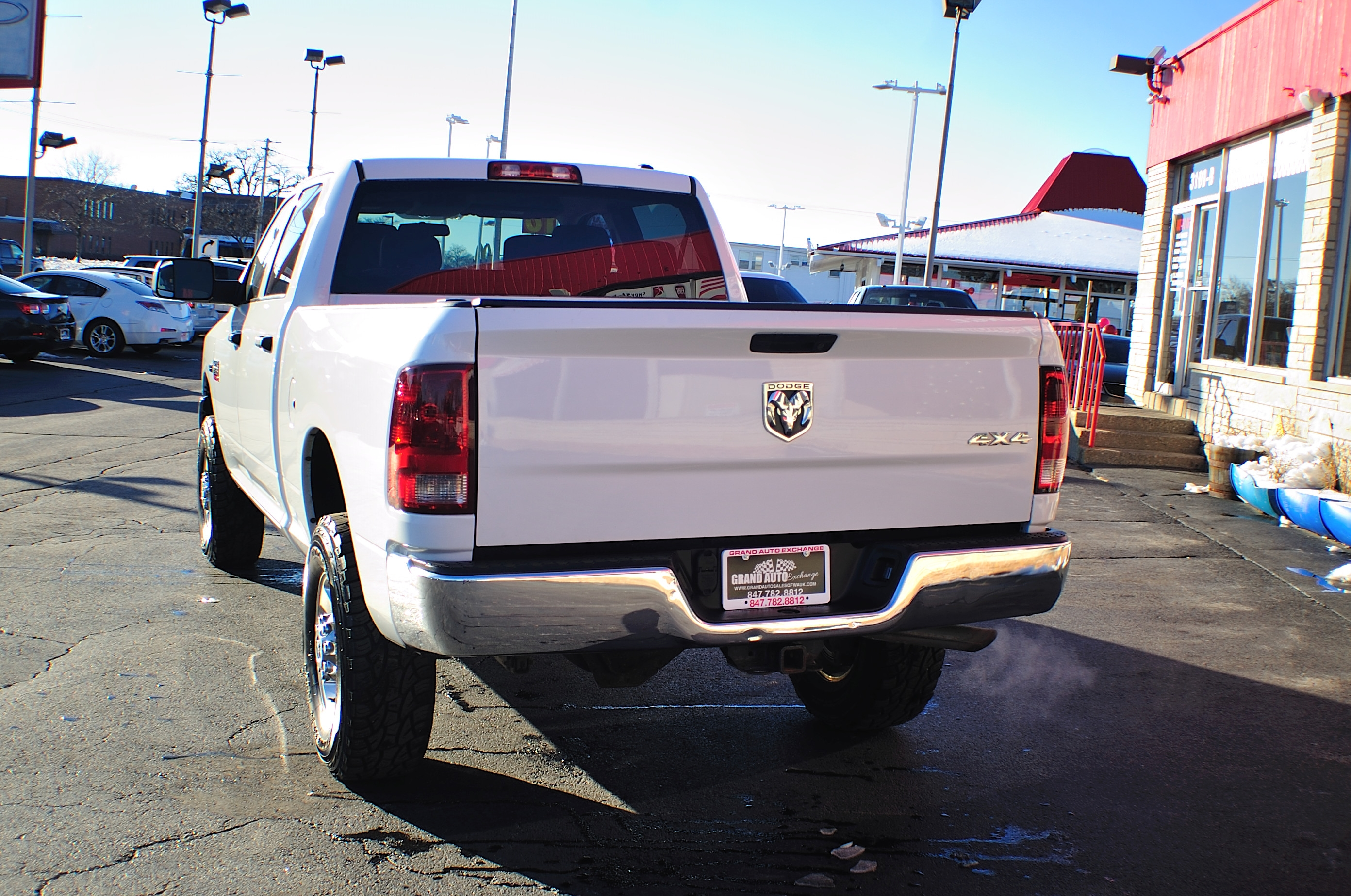 2010 Dodge Ram 2500 HD White Used 4x4 Truck Sale Buffalo Grove Deerfield Fox Lake