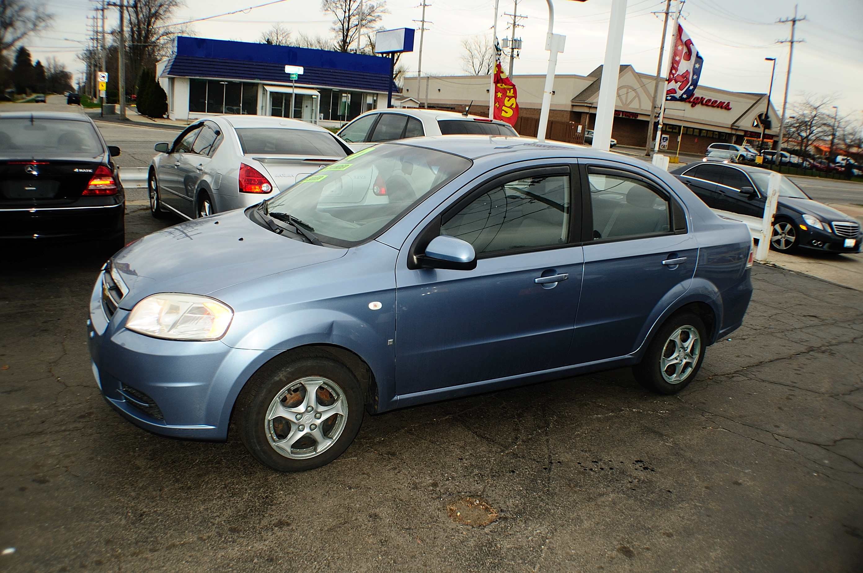 2007 Chevrolet Aveo LS 4Dr blue sedan sale used car Antioch Zion Waukegan Gurnee