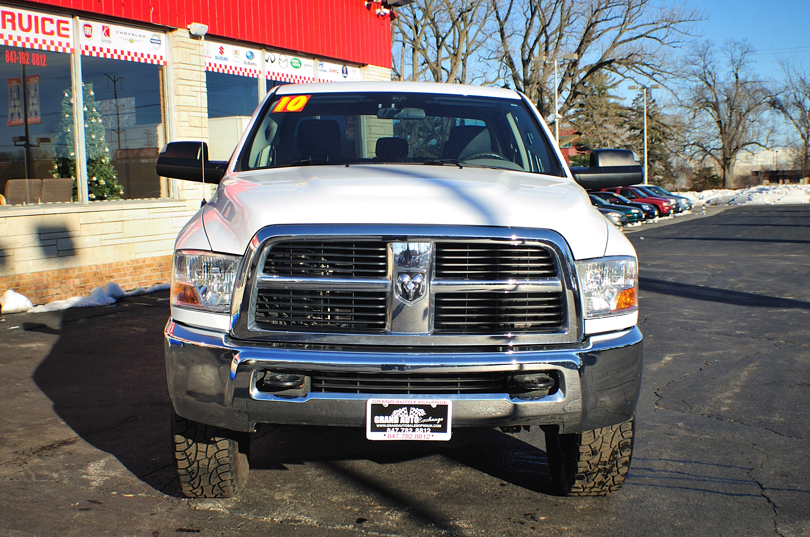 2010 Dodge Ram 2500 HD White Used 4x4 Truck Sale Gurnee Kenosha Mchenry