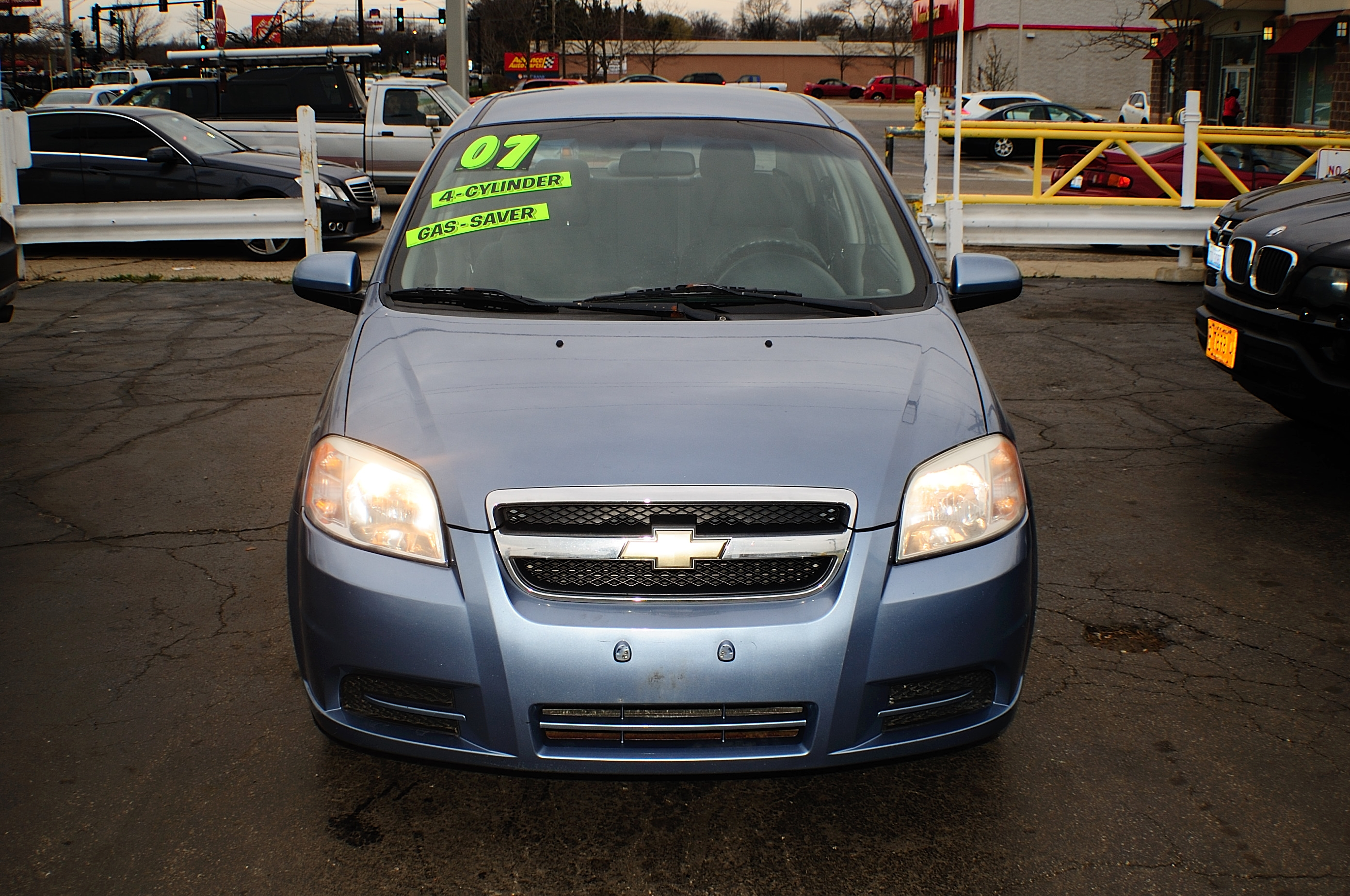 2007 Chevrolet Aveo LS 4Dr blue sedan sale used car Kenosha Mchenry Bannockburn Barrington