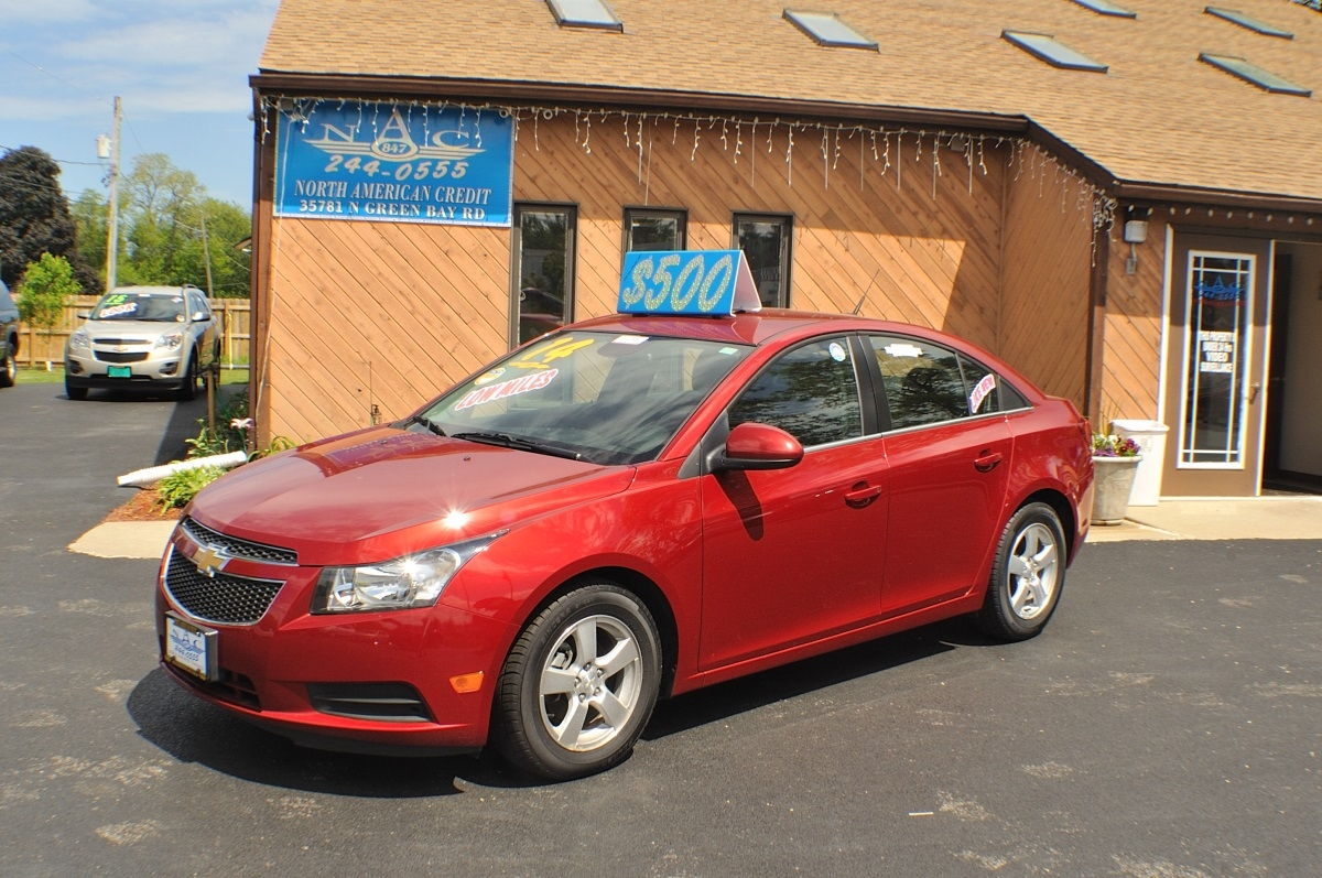 2014 Chevrolet Cruze LT Red Used Sedan Sale Antioch Zion Waukegan Lake County Illinois