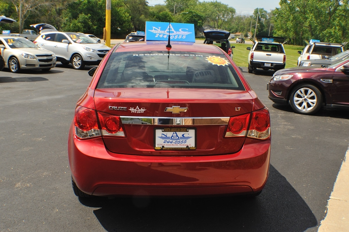 2014 Chevrolet Cruze LT Red Used Sedan Sale Buffalo Grove Deerfield Fox Lake Antioch